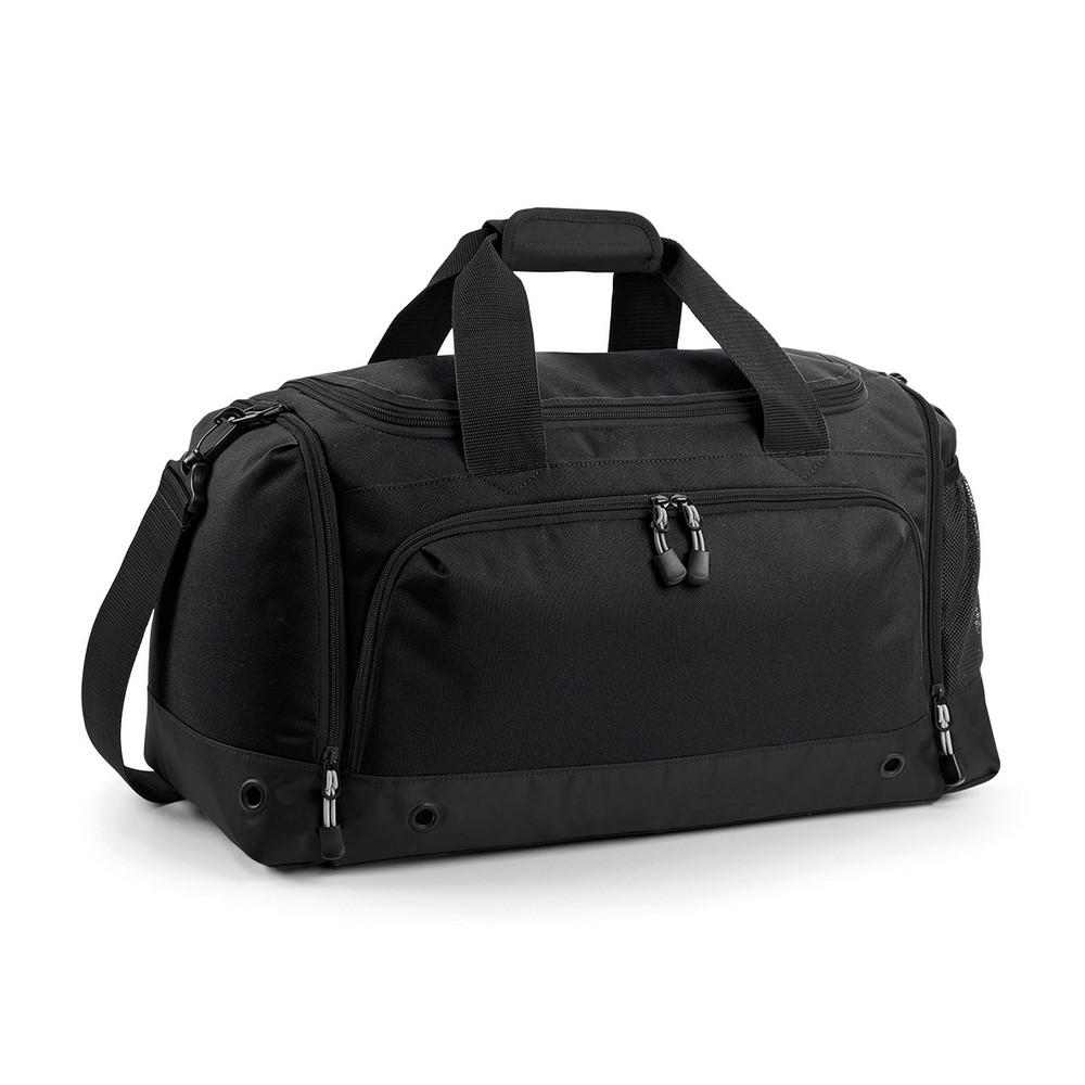 BagBase Sports Holdall / Duffle Bag (One Size) (Black/Black)