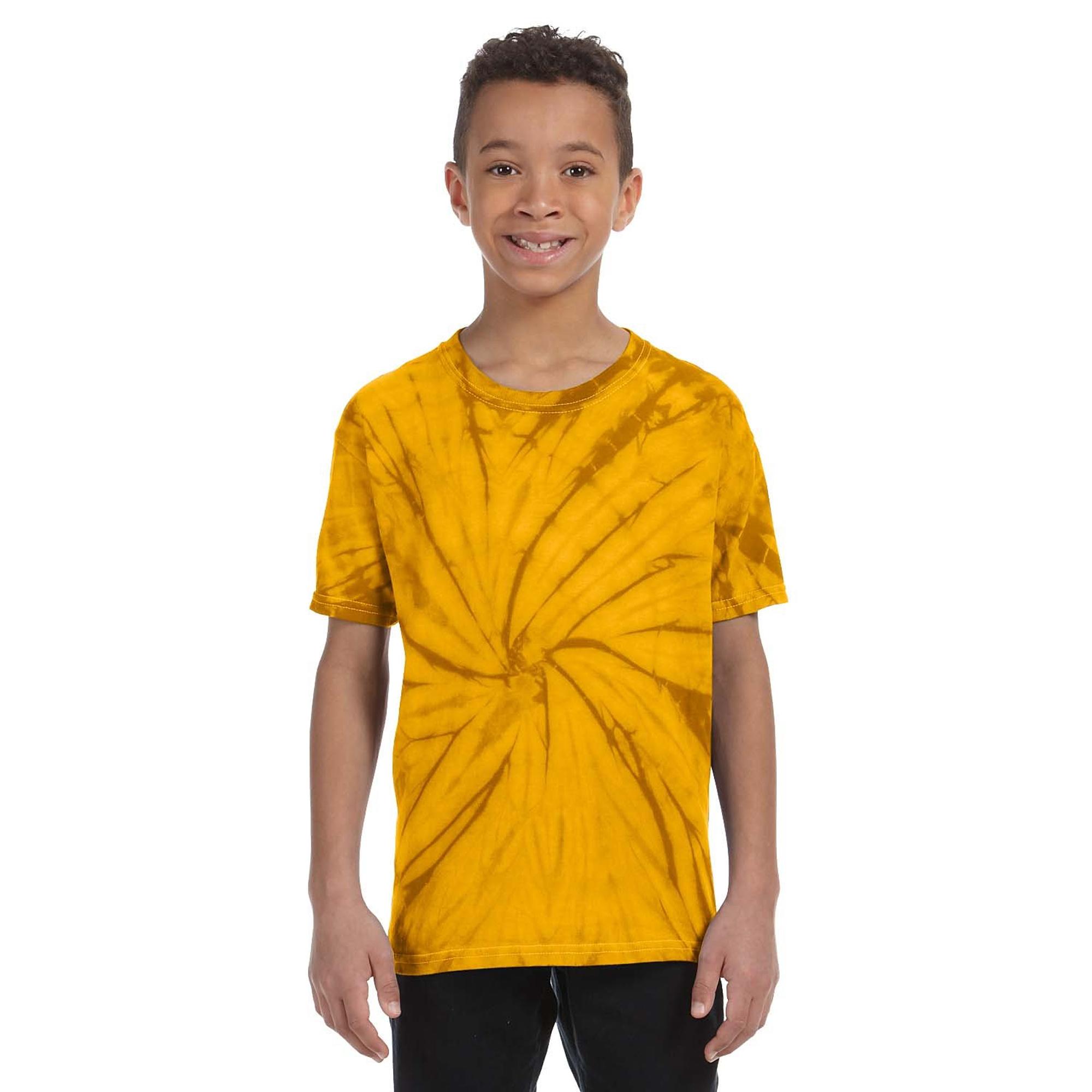 T-shirt-a-manches-courtes-Colortone-100-coton-pour-enfant-unisexe-3-11