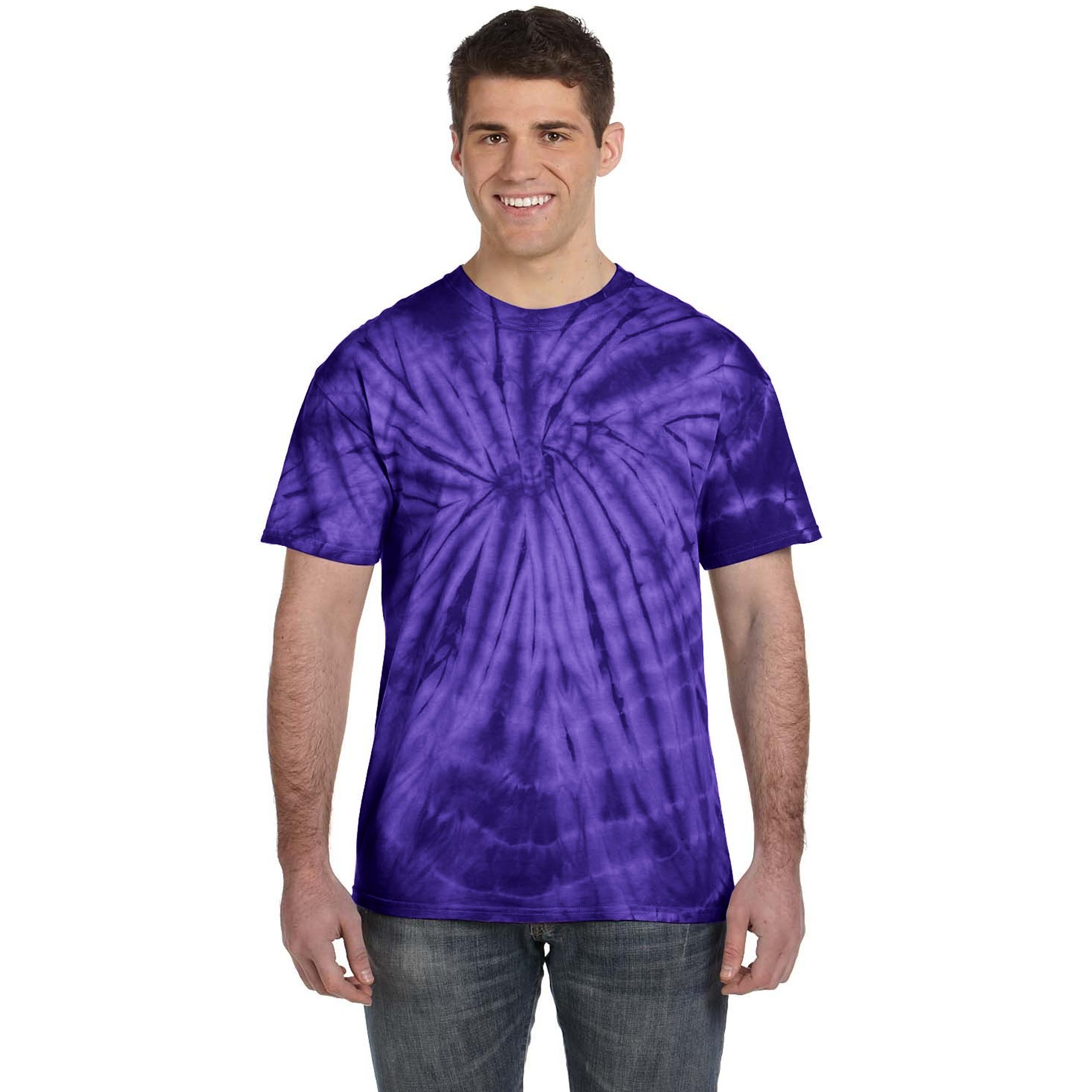 Colortone-Camiseta-psicodelica-monocolor-de-manga-corta-para-adultos-Uninex