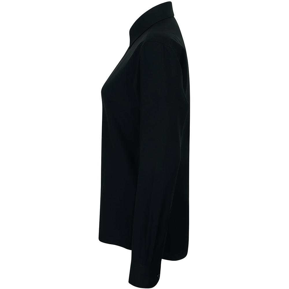 Henbury-Womens-Ladies-Wicking-Anti-bacterial-Long-Sleeve-Work-Shirt-RW2697