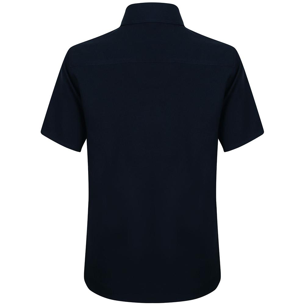 Henbury-Mens-Wicking-Anti-bacterial-Short-Sleeve-Work-Shirt-RW2698