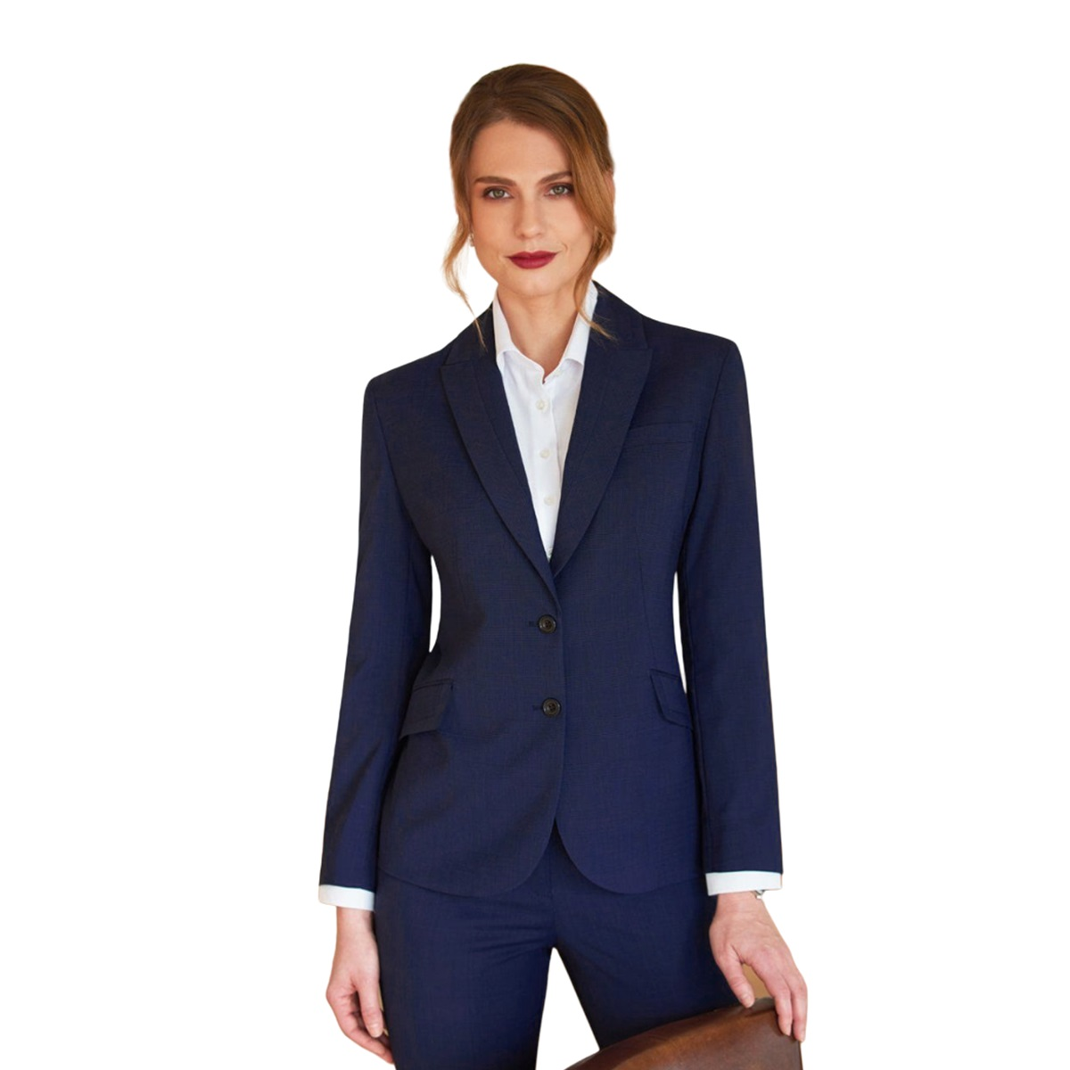 Brook Taverner Ladies/Womens Novara Semi Fitted Suit Jacket (8 x Regular) (Navy)