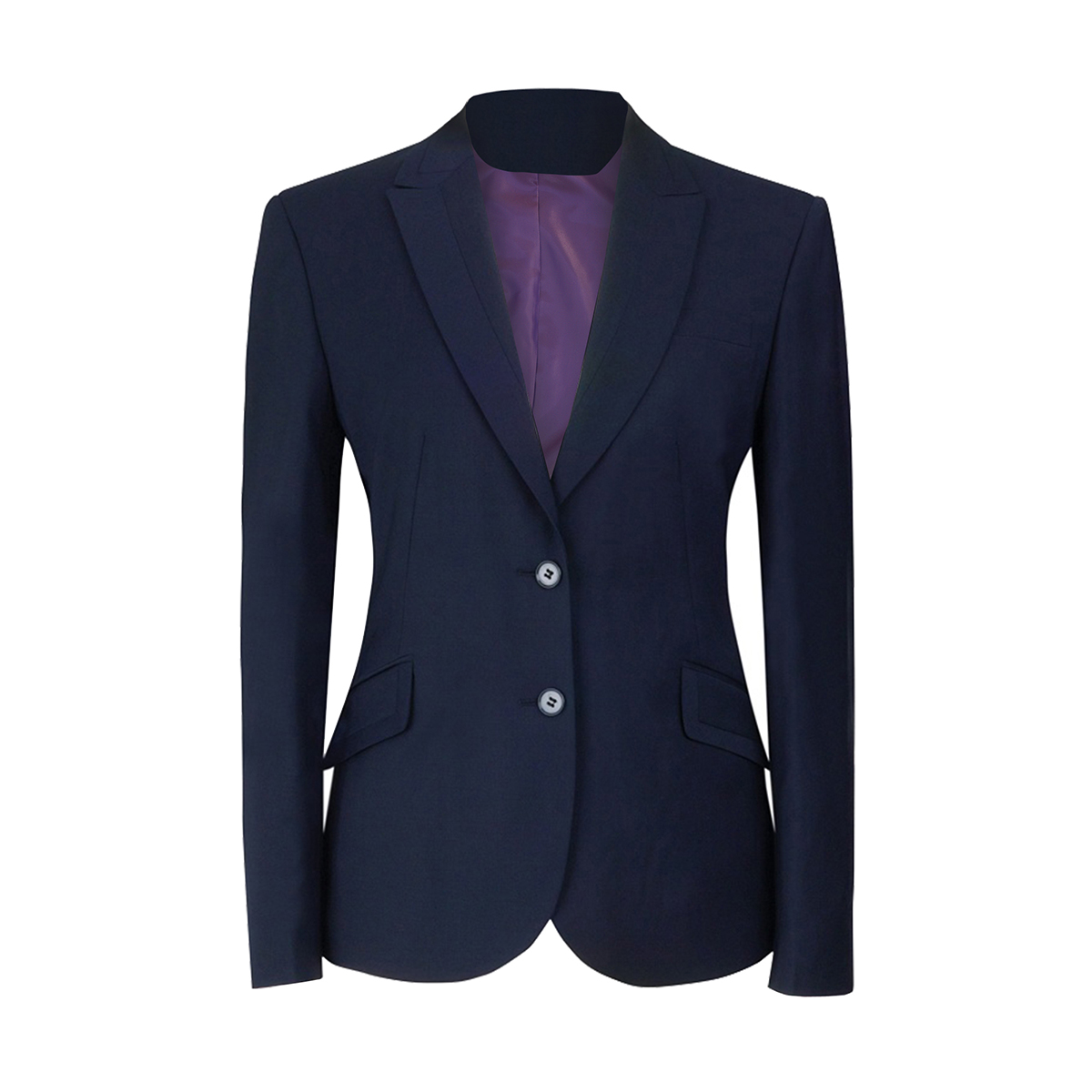 Brook Taverner Ladies/Womens Novara Semi Fitted Suit Jacket (10R) (New Mid Blue)