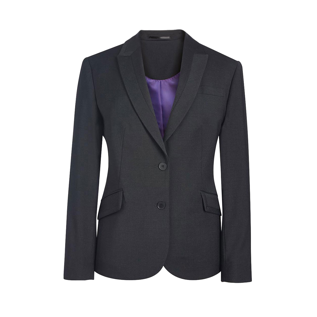 Brook Taverner Ladies/Womens Novara Semi Fitted Suit Jacket (16 x Regular) (Black)