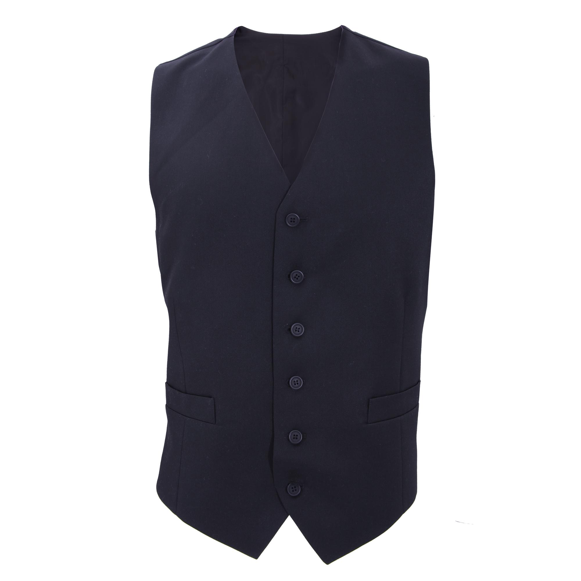 Brook Taverner Mens Gamma Suit Waistcoat (44 x Regular) (Navy)