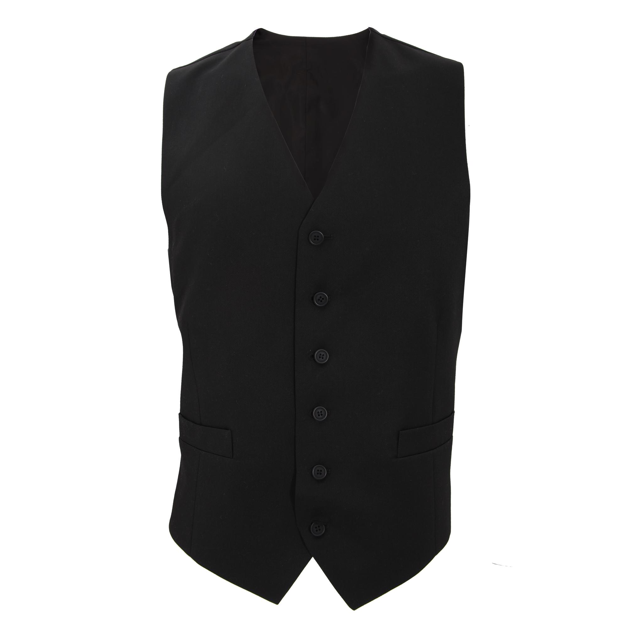 Brook Taverner Mens Gamma Suit Waistcoat (44 x Regular) (Black)