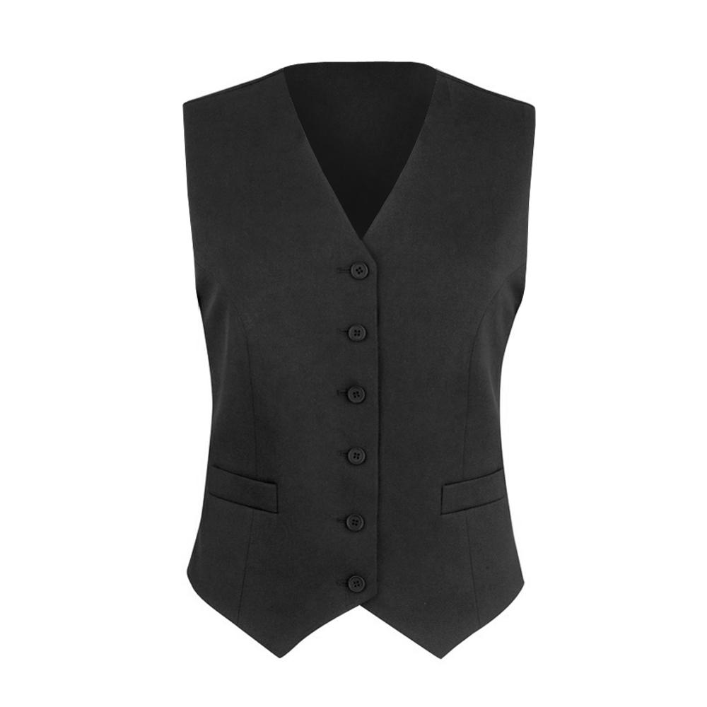 Brook Taverner Womens/Ladies Omega Suit Waistcoat (18 x Regular) (Black)