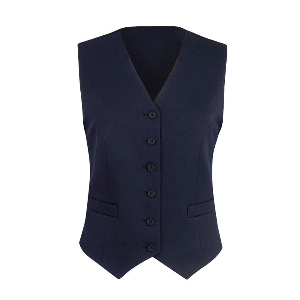 Brook Taverner Womens/Ladies Omega Suit Waistcoat (10 x Regular) (Navy)
