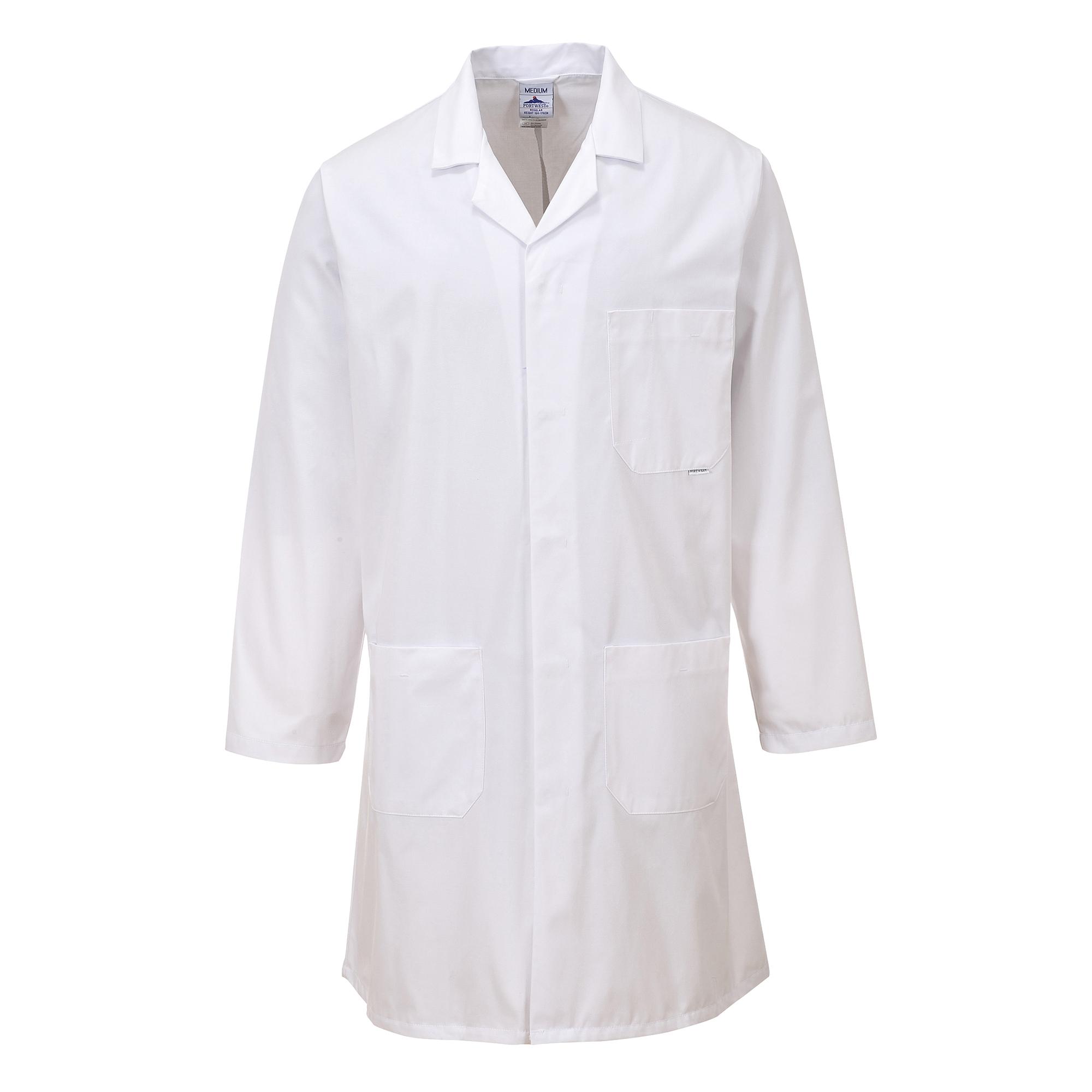 Portwest Standard Workwear Lab Coat (Medical Health) (XS) (White)