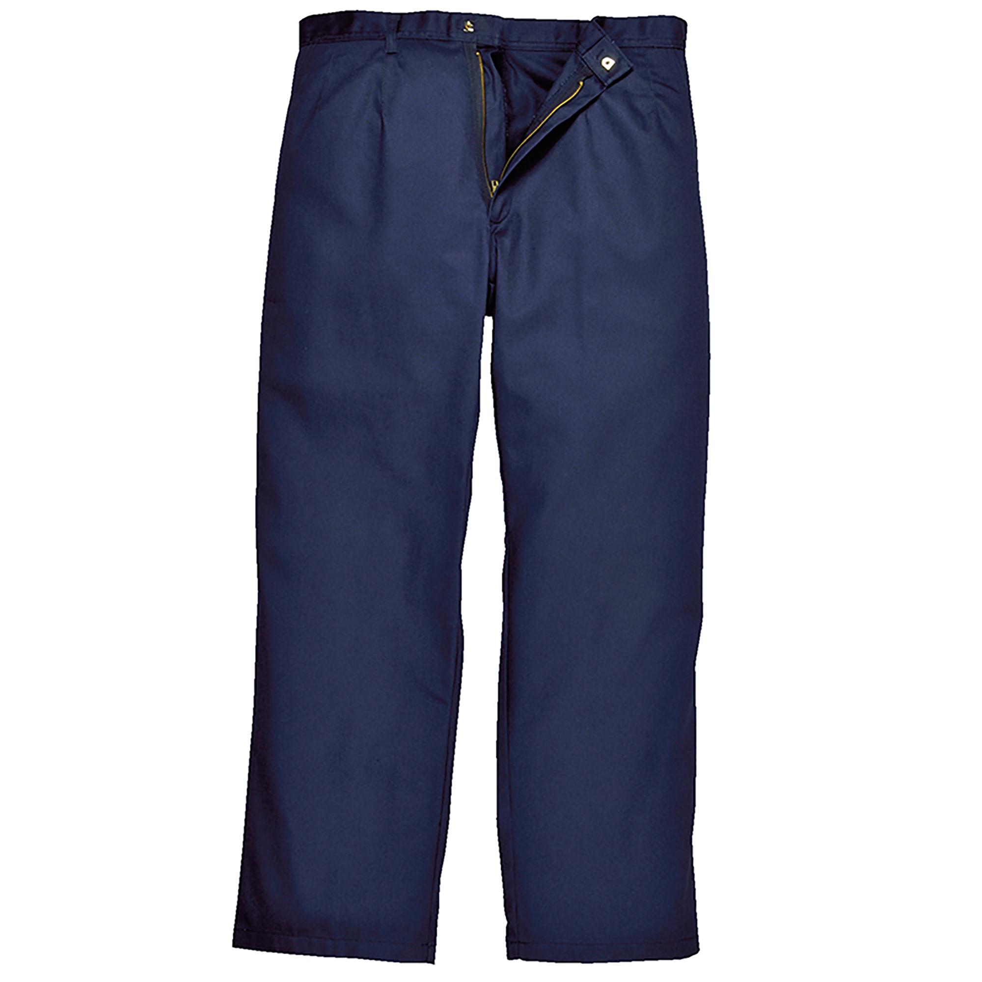 Portwest Mens Bizweld Workwear Trousers / Pant (Large x Regular) (Navy)