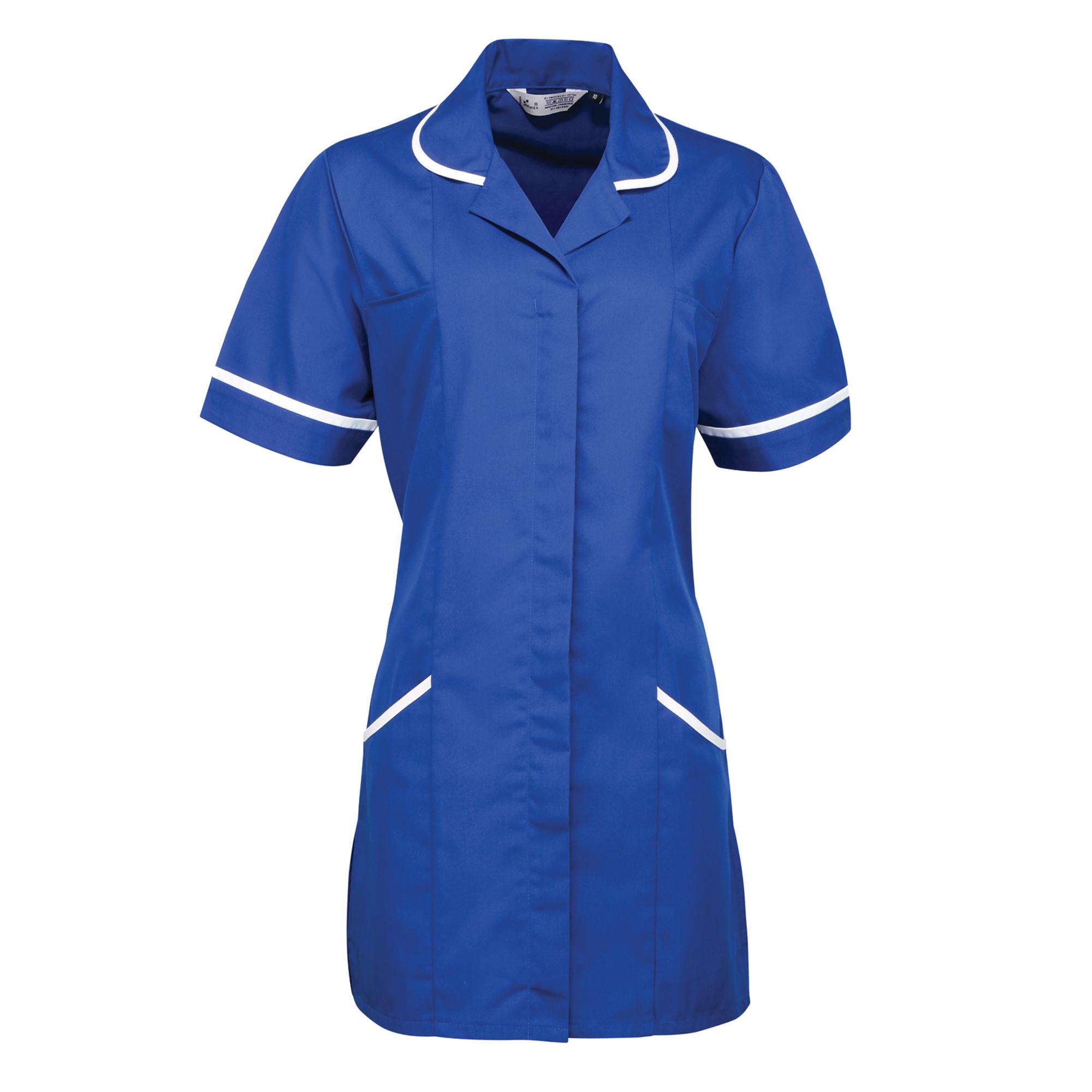 Premier Ladies/Womens Vitality Medical/Healthcare Work Tunic (8) (Royal/ White)