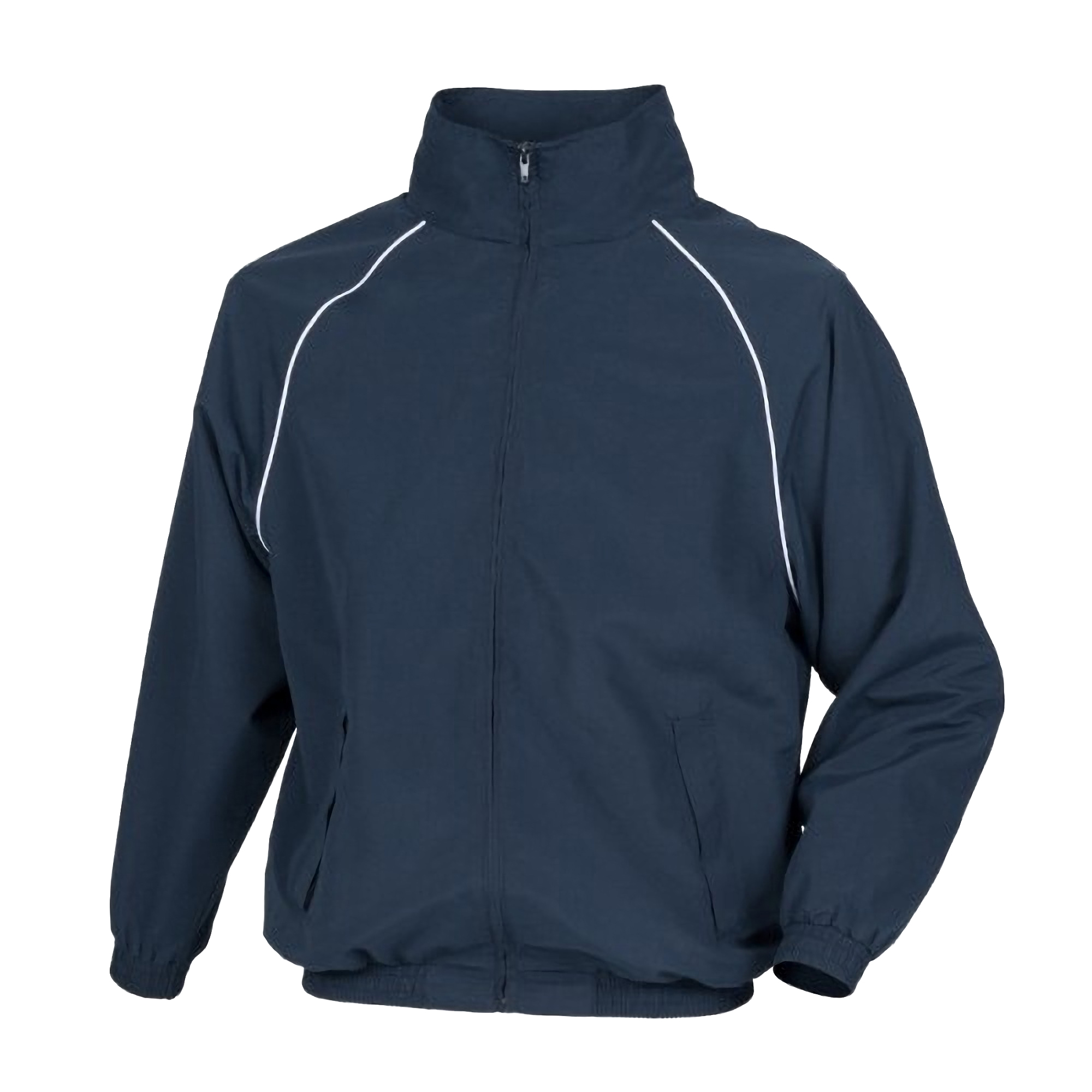 Tombo Mens Teamsport Start Line Sports Training Track Jacket (XL) (Navy/ White piping)