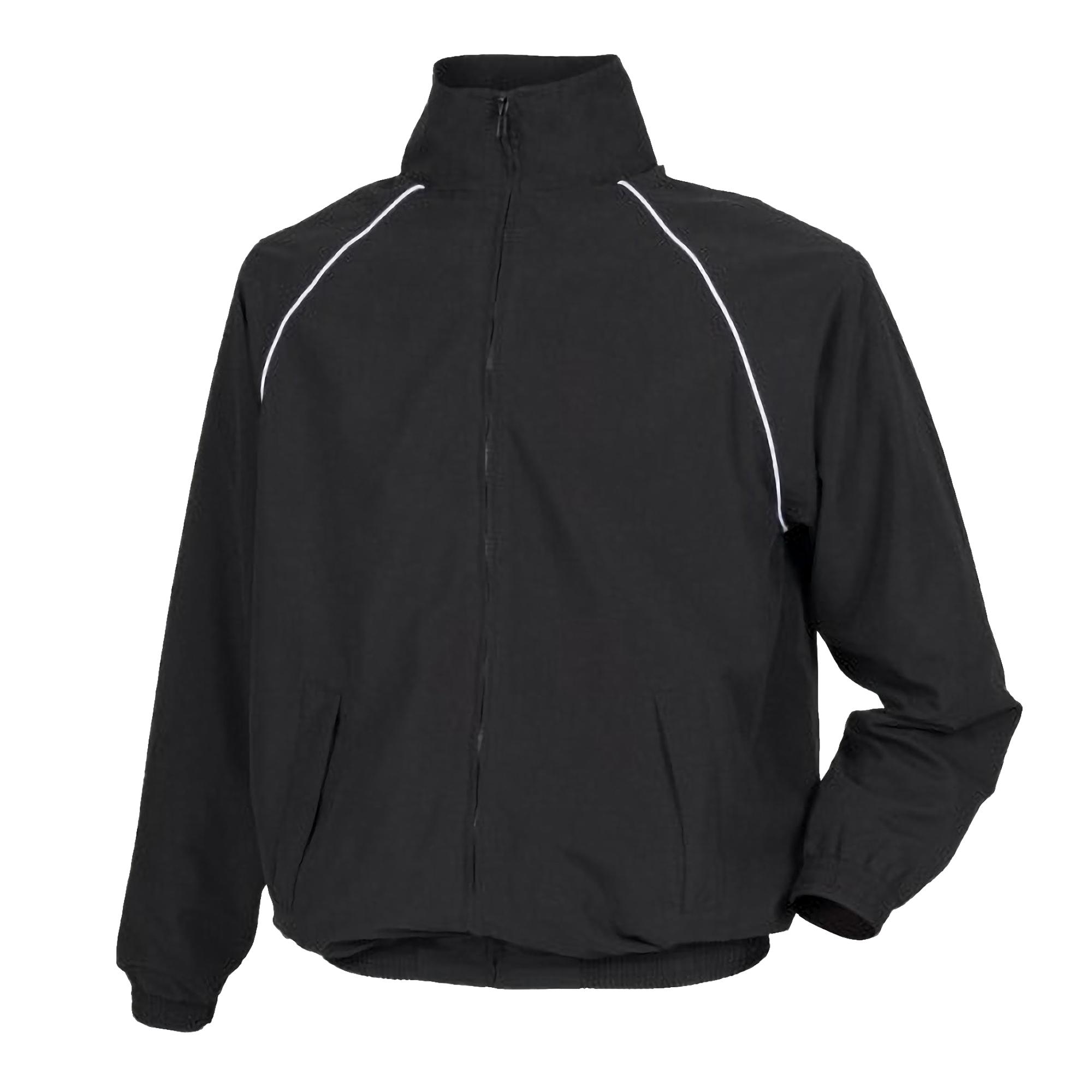 Tombo Mens Teamsport Start Line Sports Training Track Jacket (2XL) (Black/ White piping)