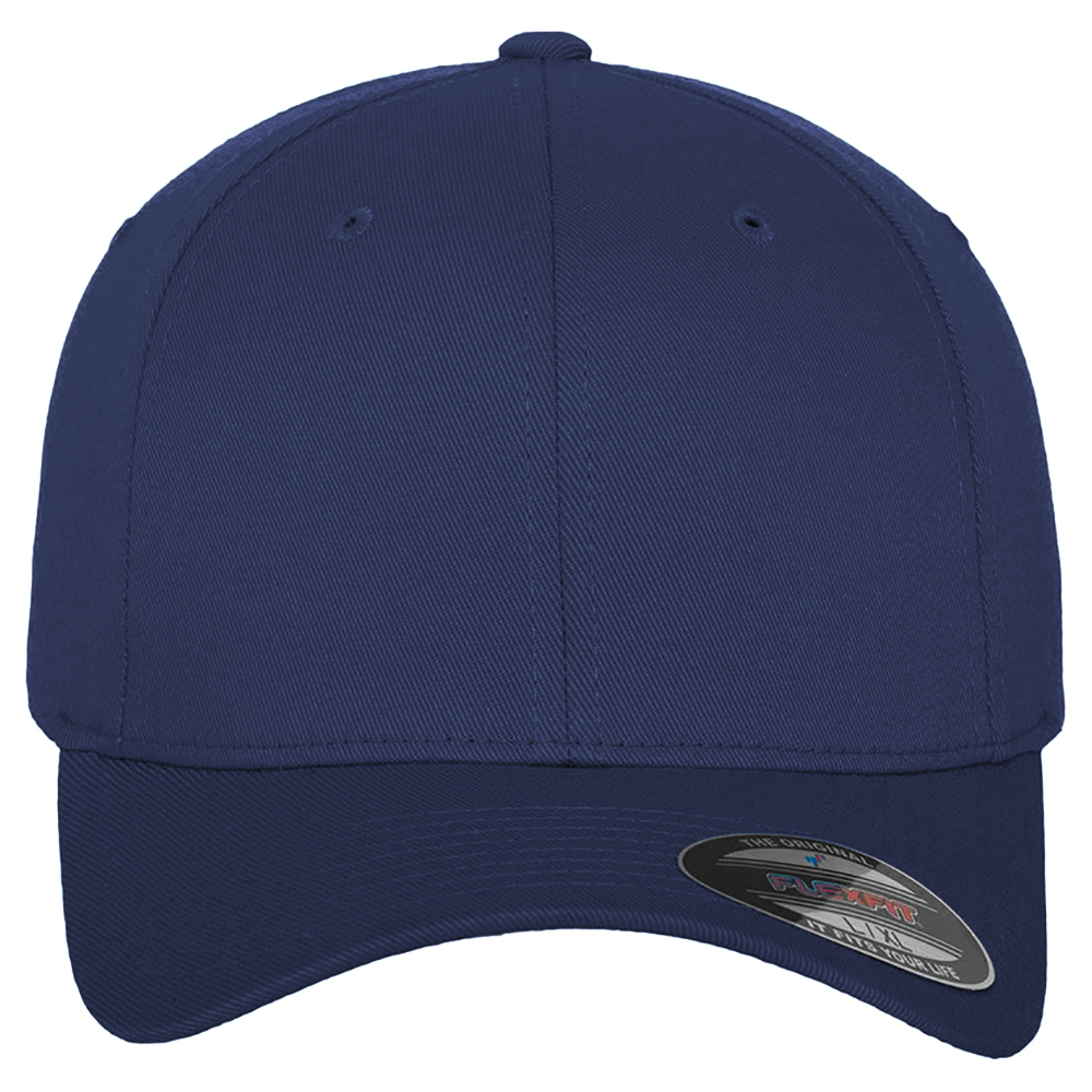 Flexfit by Yupoong Combed Navy Blue Stretchable Fitted Baseball Fitted Cap L//XL