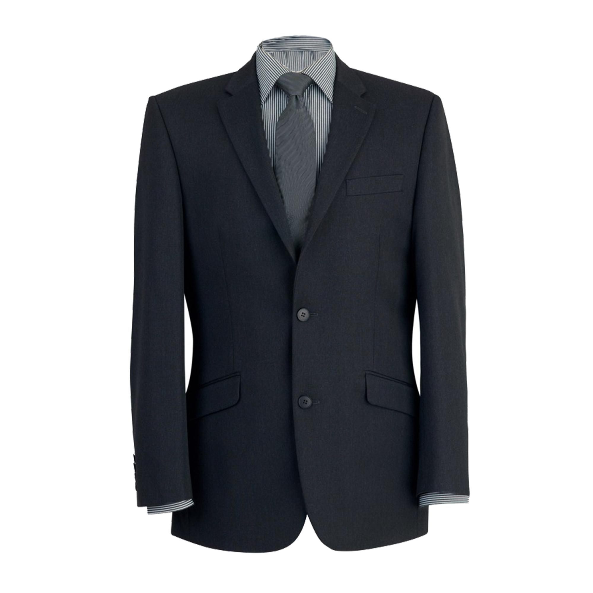 Brook Taverner Mens Zeus Suit Jacket (46 x Regular) (Black)