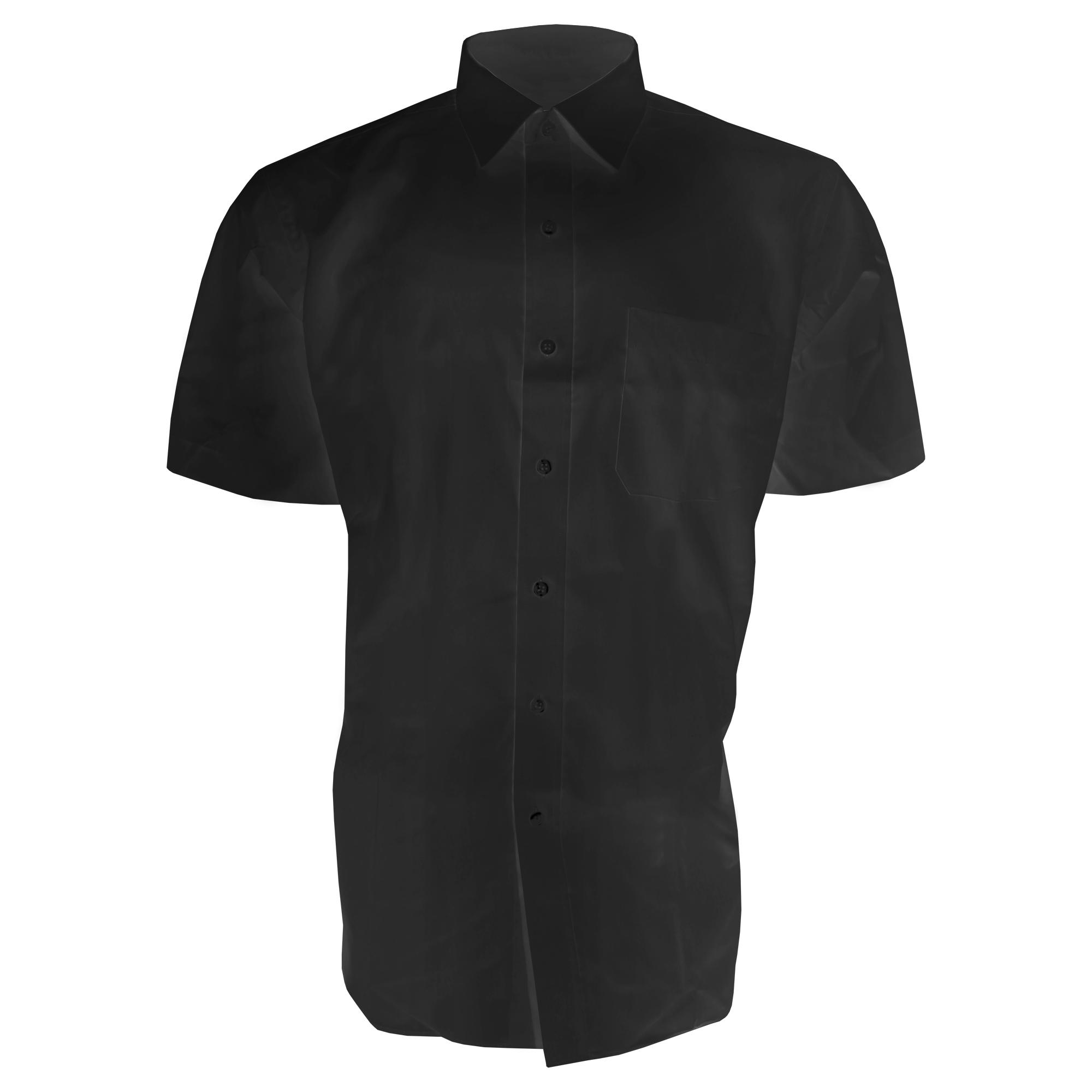 Brook Taverner Mens Rosello Short Sleeve Shirt (18) (Black)