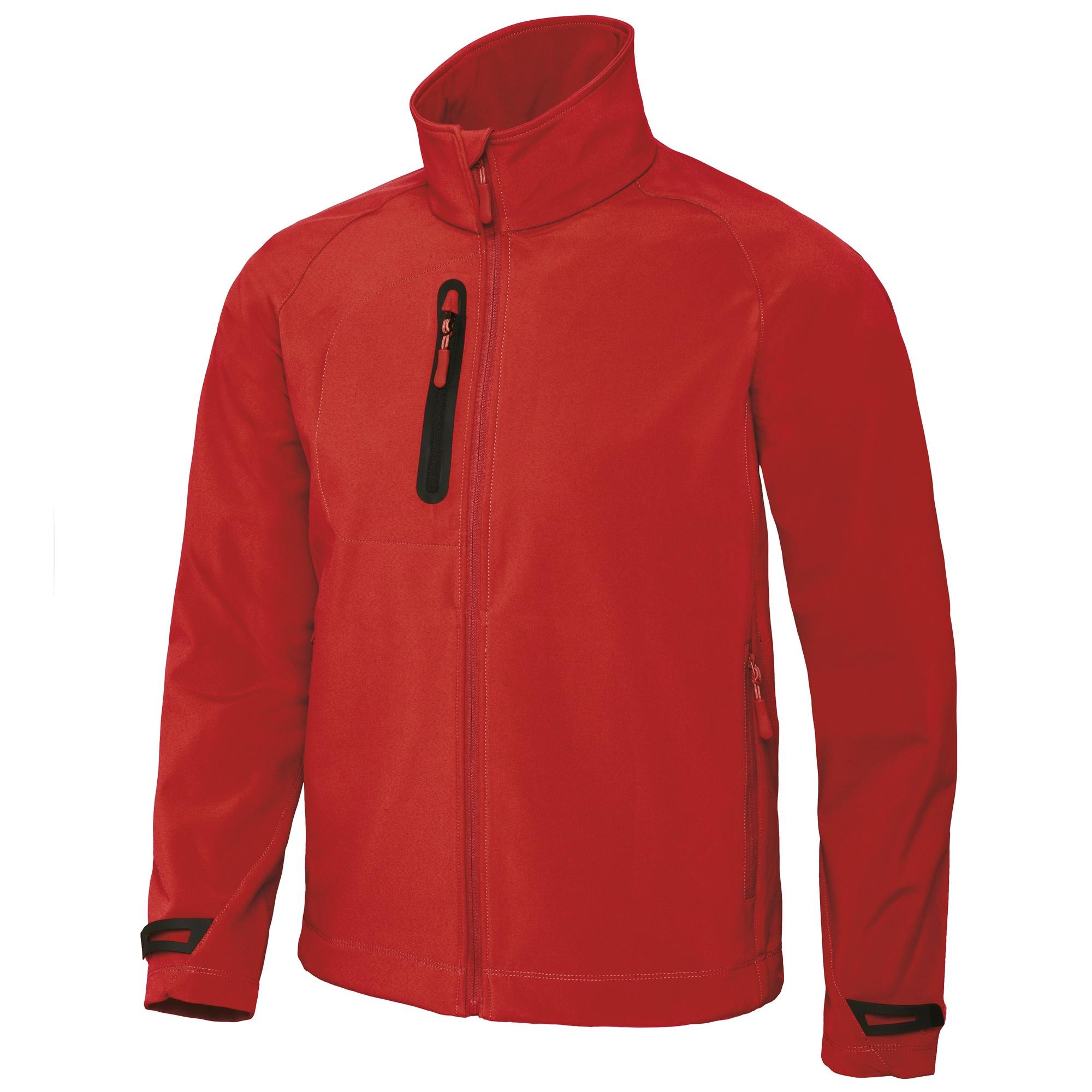 B&C Mens X-Lite 3 Layer Softshell Performance Jacket (S) (Deep Red)
