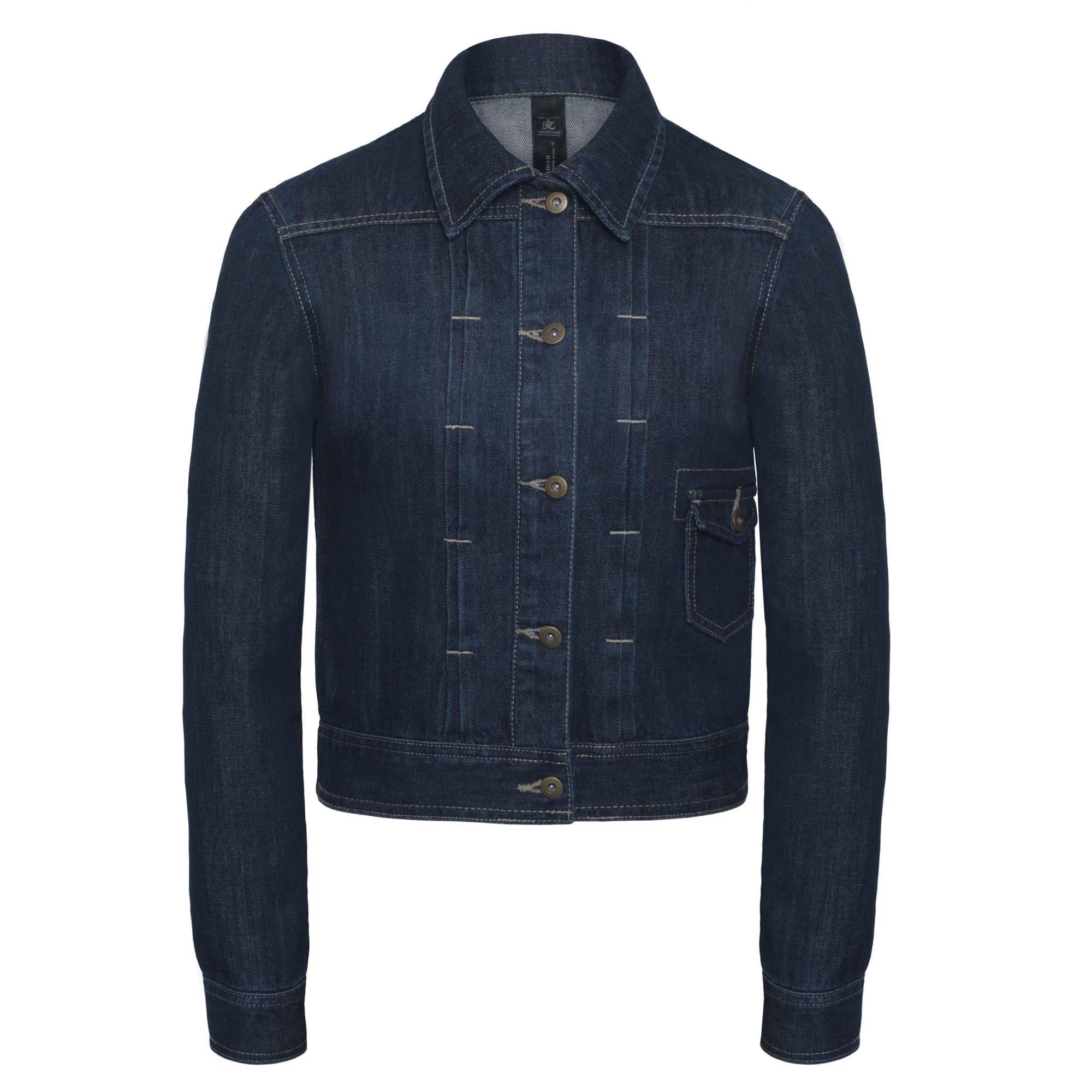 B&C Denim Womens/Ladies Frame Denim Trucker Jacket (2XL) (Deep Blue Denim)