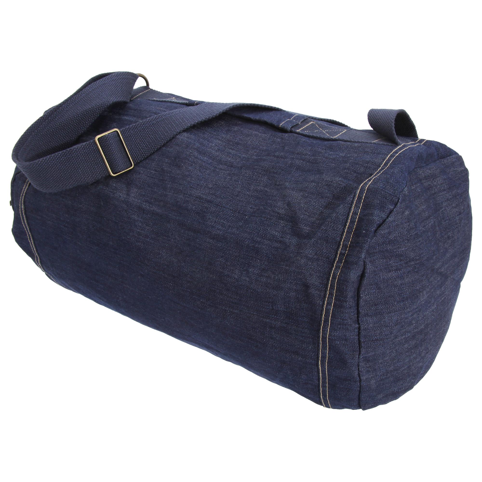 B&C Denim Feeling Good Holdall Duffle Bag (One Size) (Deep Blue Denim)