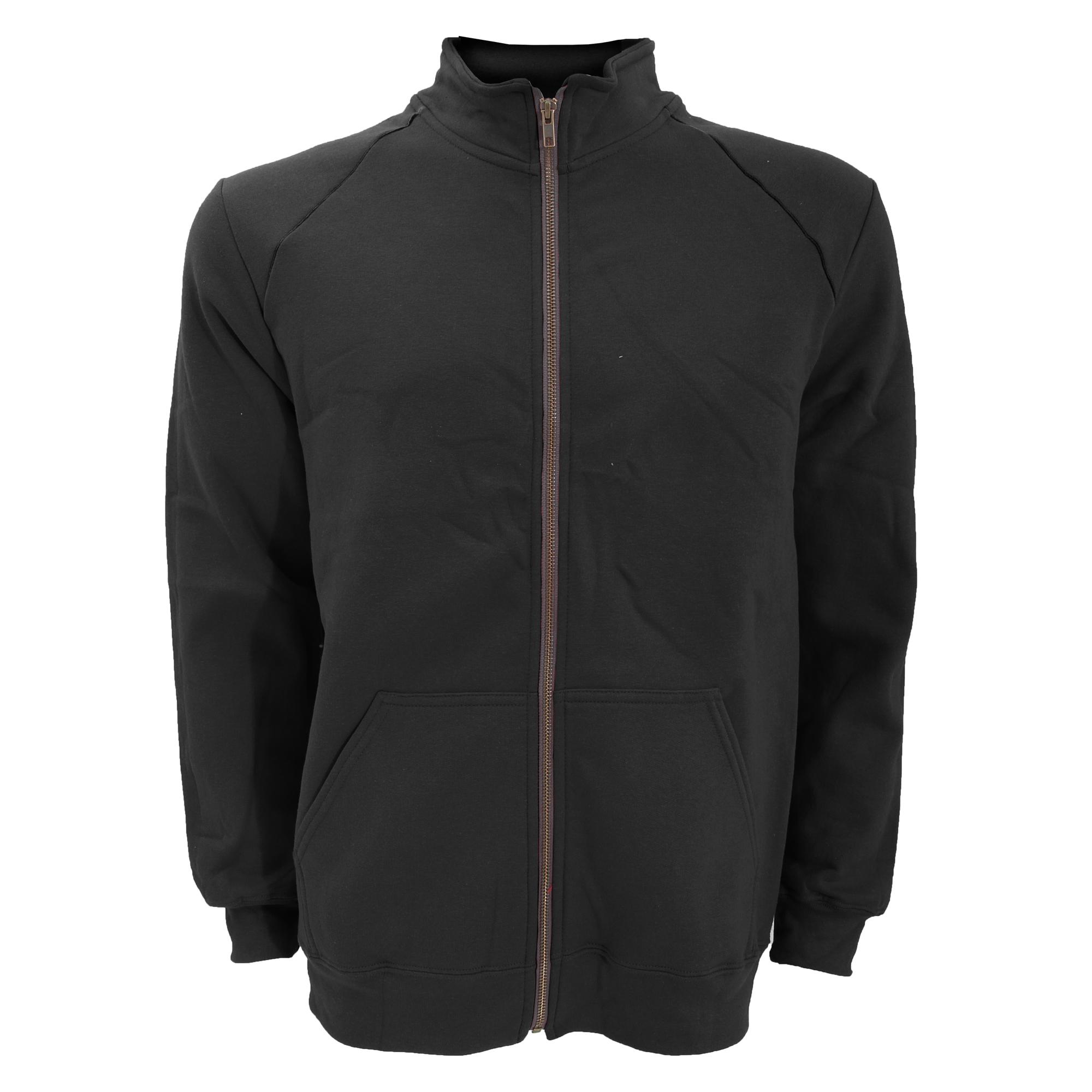 Gildan-Mens-Premium-Cotton-Ringspun-Fleece-Full-Zip-Jacket-L-S-M-2XL-RW3172 thumbnail 2