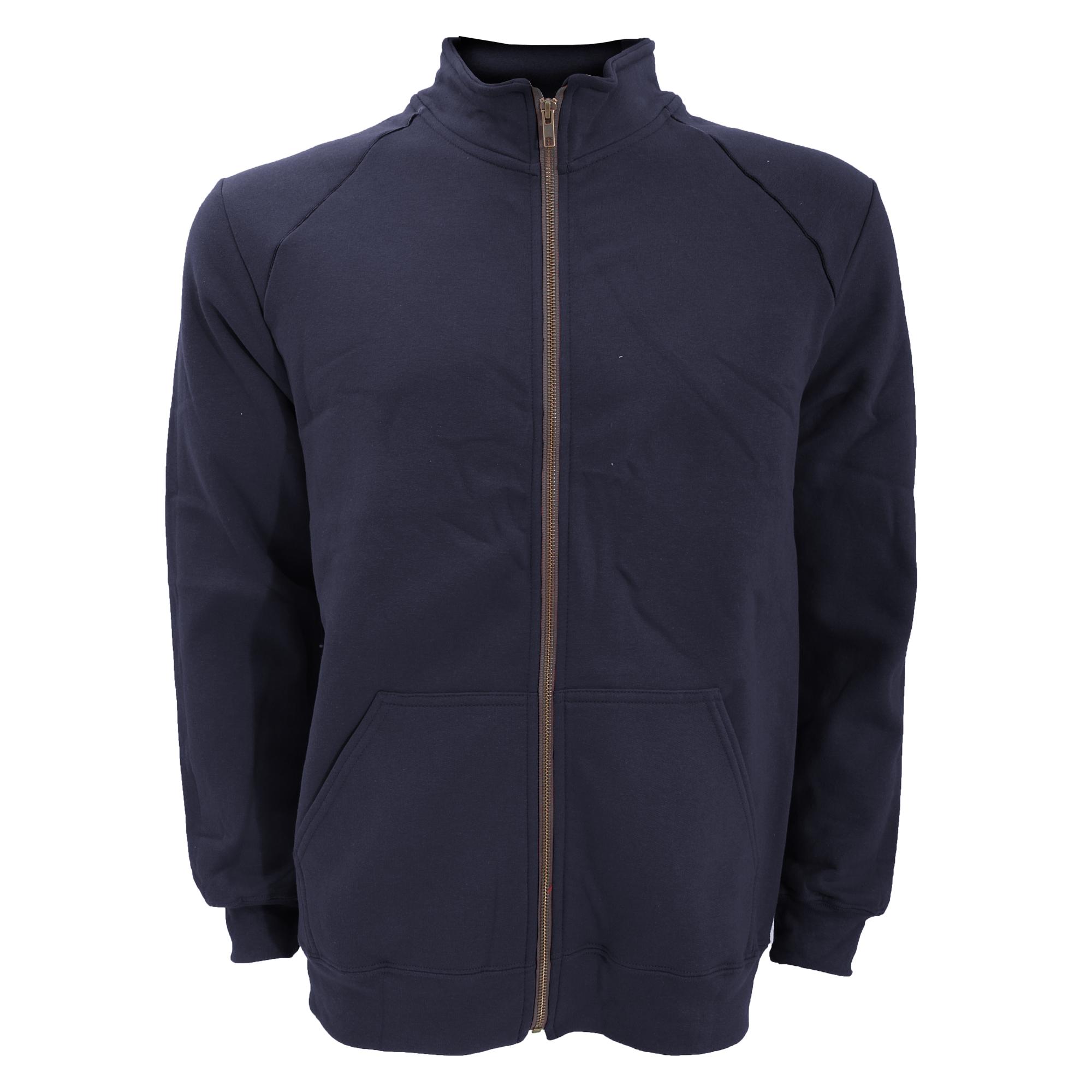 Gildan-Mens-Premium-Cotton-Ringspun-Fleece-Full-Zip-Jacket-L-S-M-2XL-RW3172 thumbnail 3