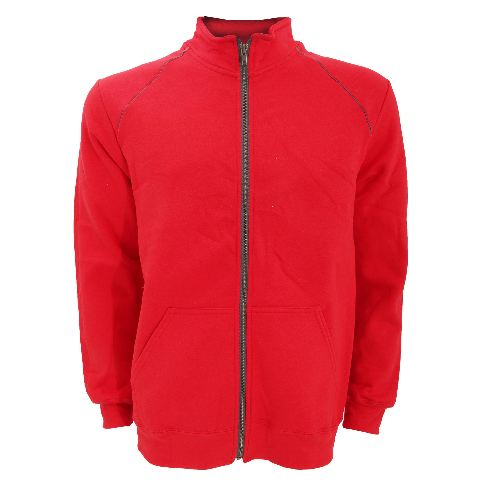 Gildan-Mens-Premium-Cotton-Ringspun-Fleece-Full-Zip-Jacket-L-S-M-2XL-RW3172 thumbnail 4