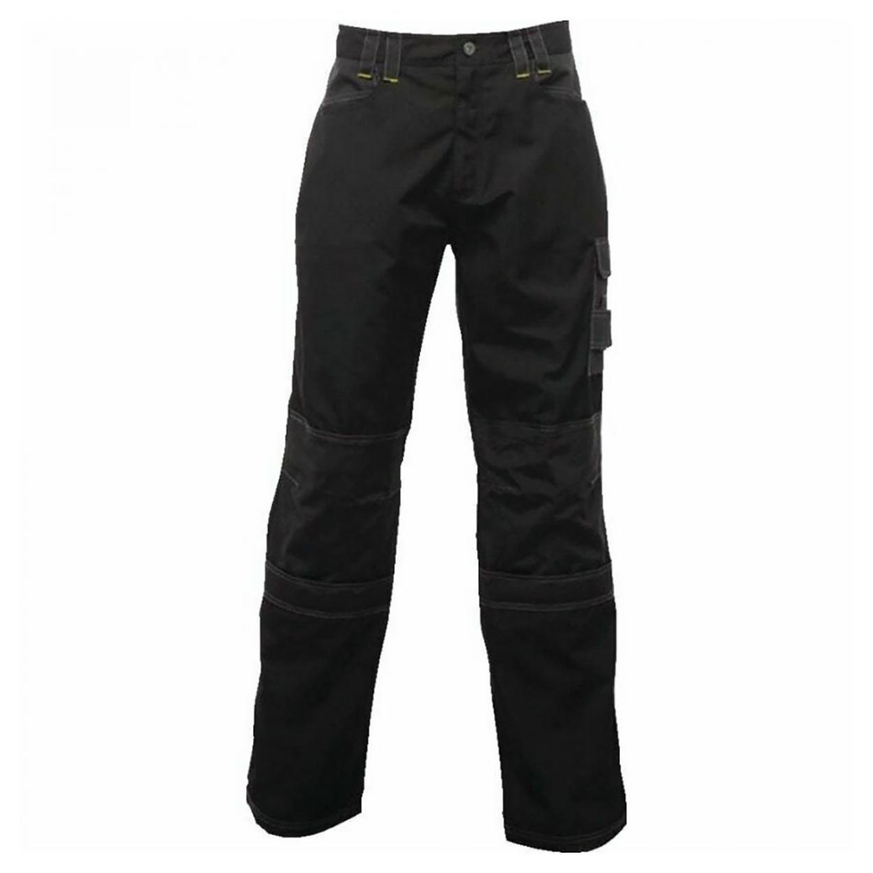 Regatta Mens Holster Workwear Trousers (Short, Regular And Long) (28S) (Black)