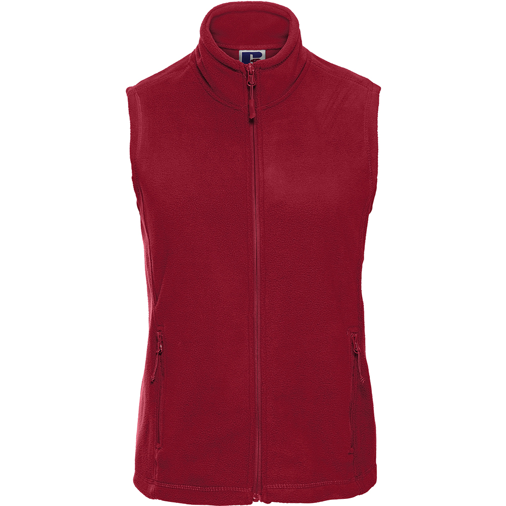 Russell Europe Womens/Ladies Outdoor Full-Zip Anti-Pill Fleece Gilet Jacket (L) (Classic Red)