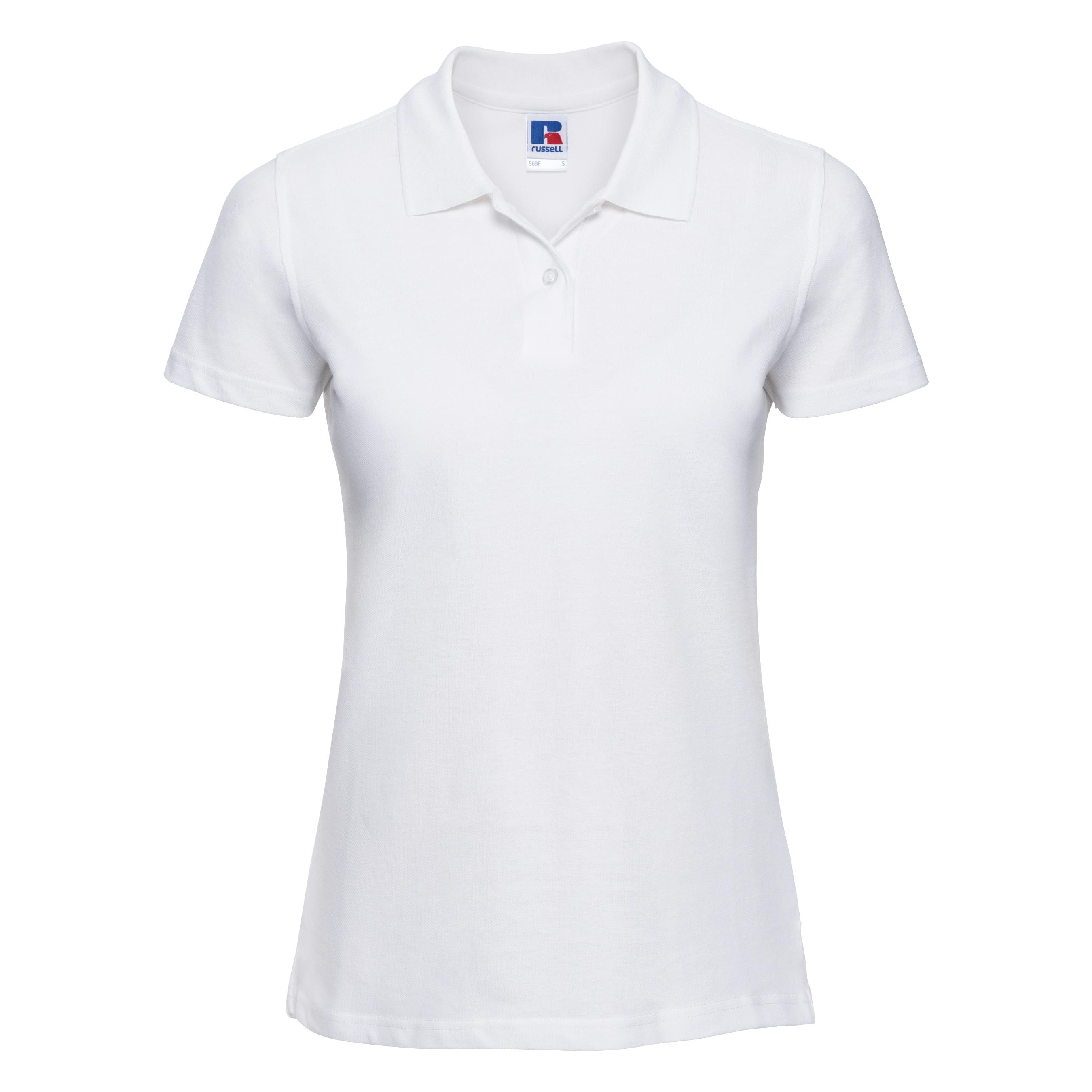 miniature 17 - Polo-uni-Russell-manches-courtes-100-coton-femme-et-fille-XS-2XL-RW3279