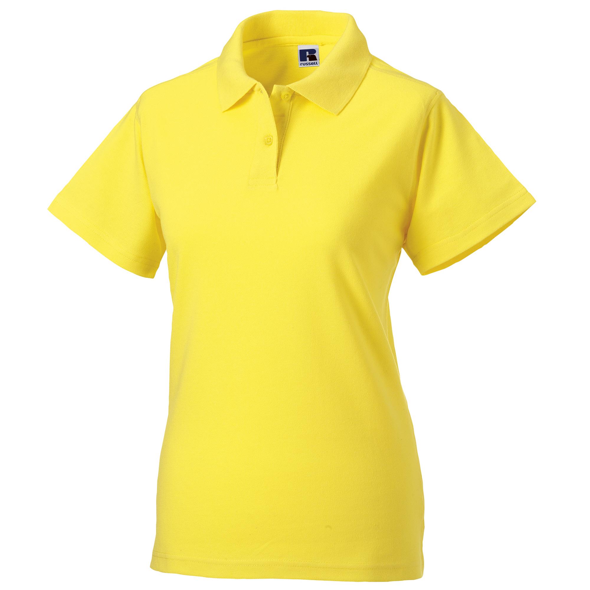 miniature 20 - Polo-uni-Russell-manches-courtes-100-coton-femme-et-fille-XS-2XL-RW3279