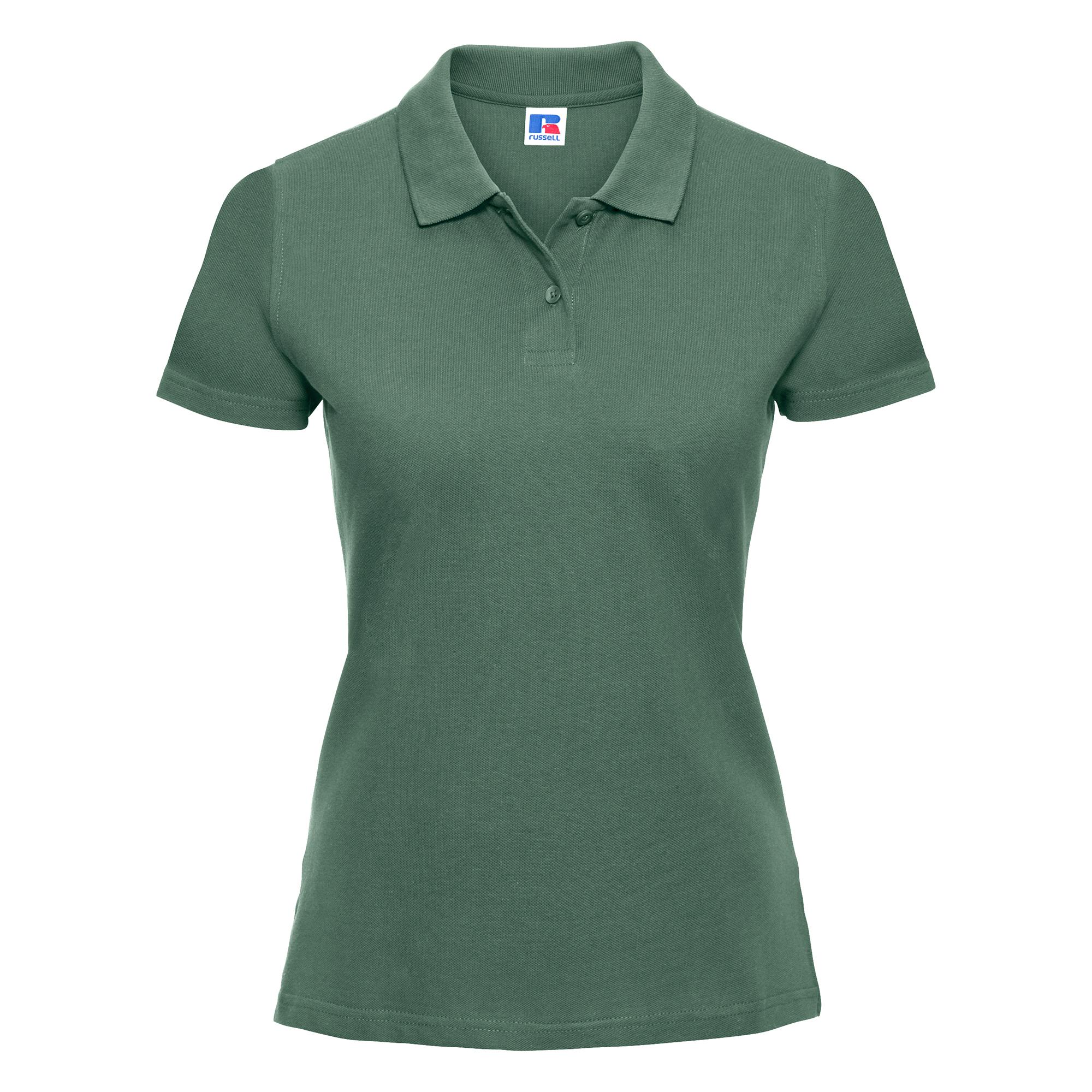 miniature 5 - Polo-uni-Russell-manches-courtes-100-coton-femme-et-fille-XS-2XL-RW3279