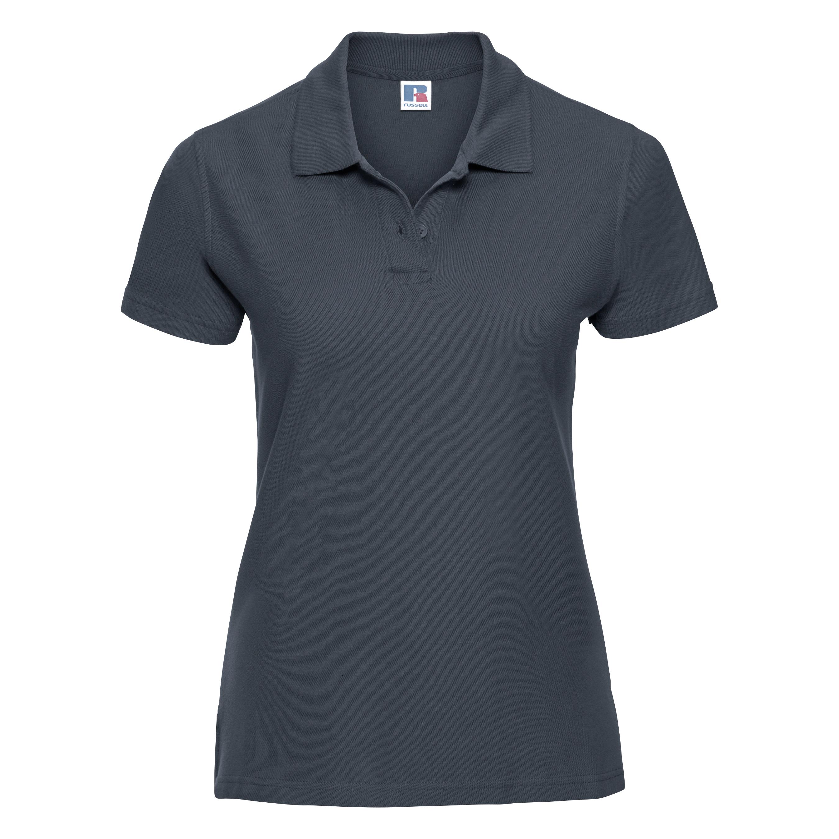 miniature 13 - Polo-uni-Russell-manches-courtes-100-coton-femme-et-fille-XS-2XL-RW3281