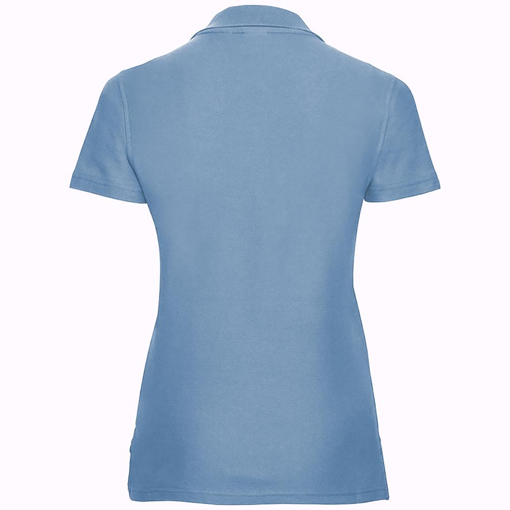 miniature 10 - Polo-uni-Russell-manches-courtes-100-coton-femme-et-fille-XS-2XL-RW3281