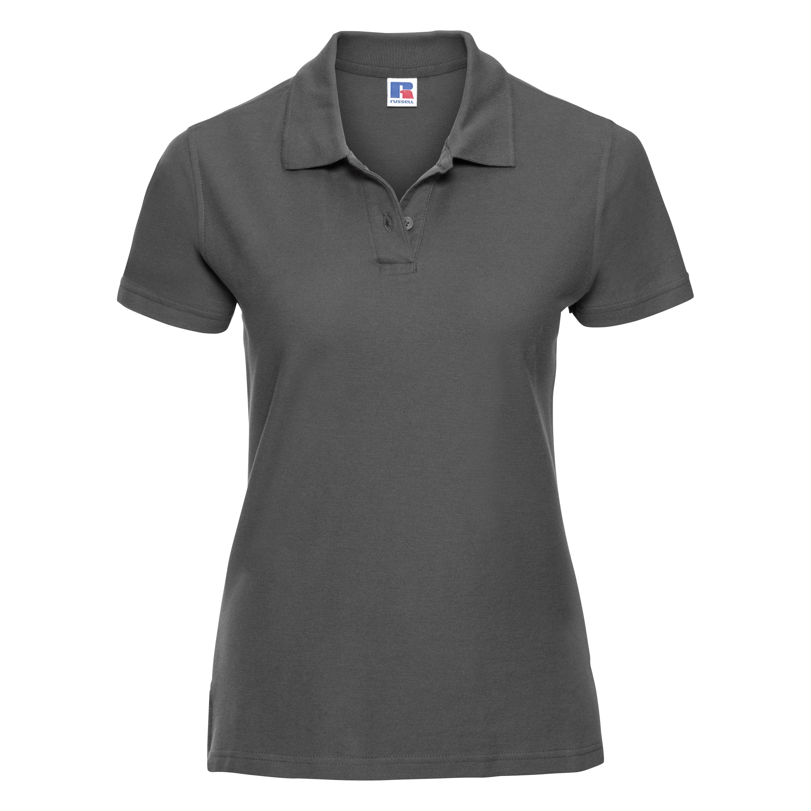 miniature 28 - Polo-uni-Russell-manches-courtes-100-coton-femme-et-fille-XS-2XL-RW3281