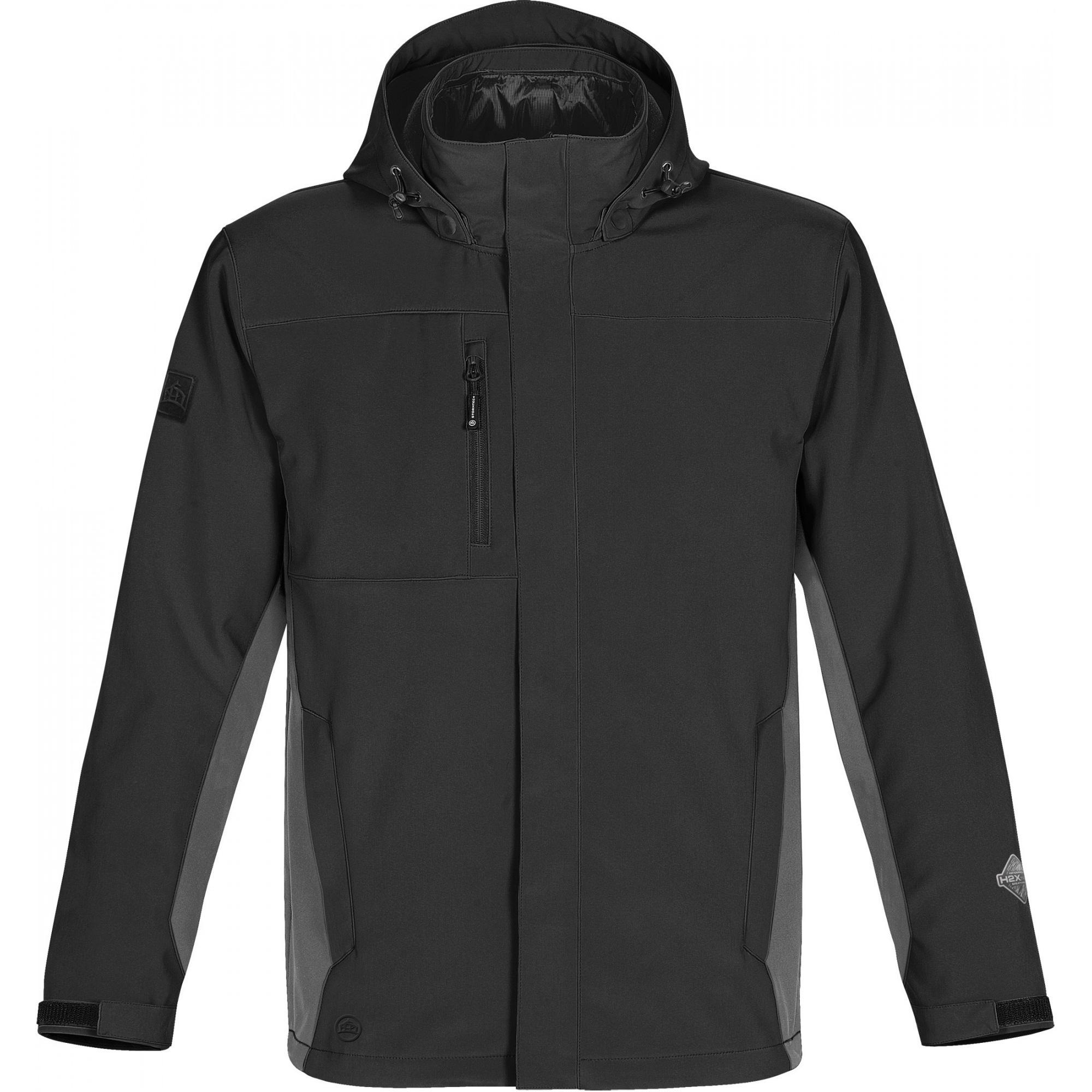 Stormtech Mens Atmosphere 3-in-1 Performance Jacket (Waterproof & Breathable) (2XL) (Black/Granite)