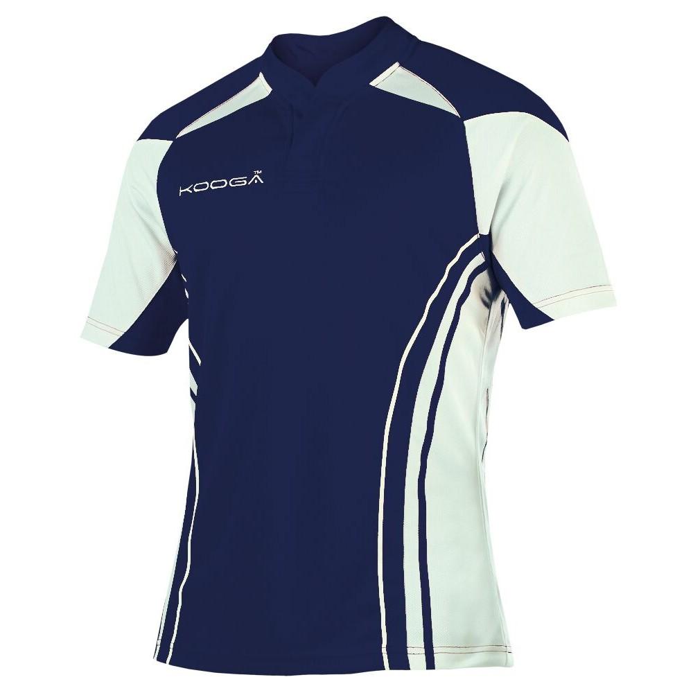 KooGa Boys Junior Stadium Match Rugby Shirt (M) (Navy/White)