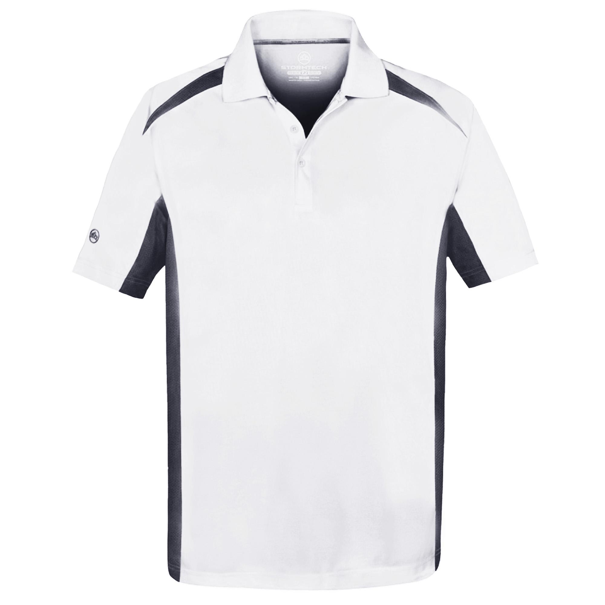 Stormtech Mens Two Tone Short Sleeve Lightweight Polo Shirt (XL) (White/Navy)