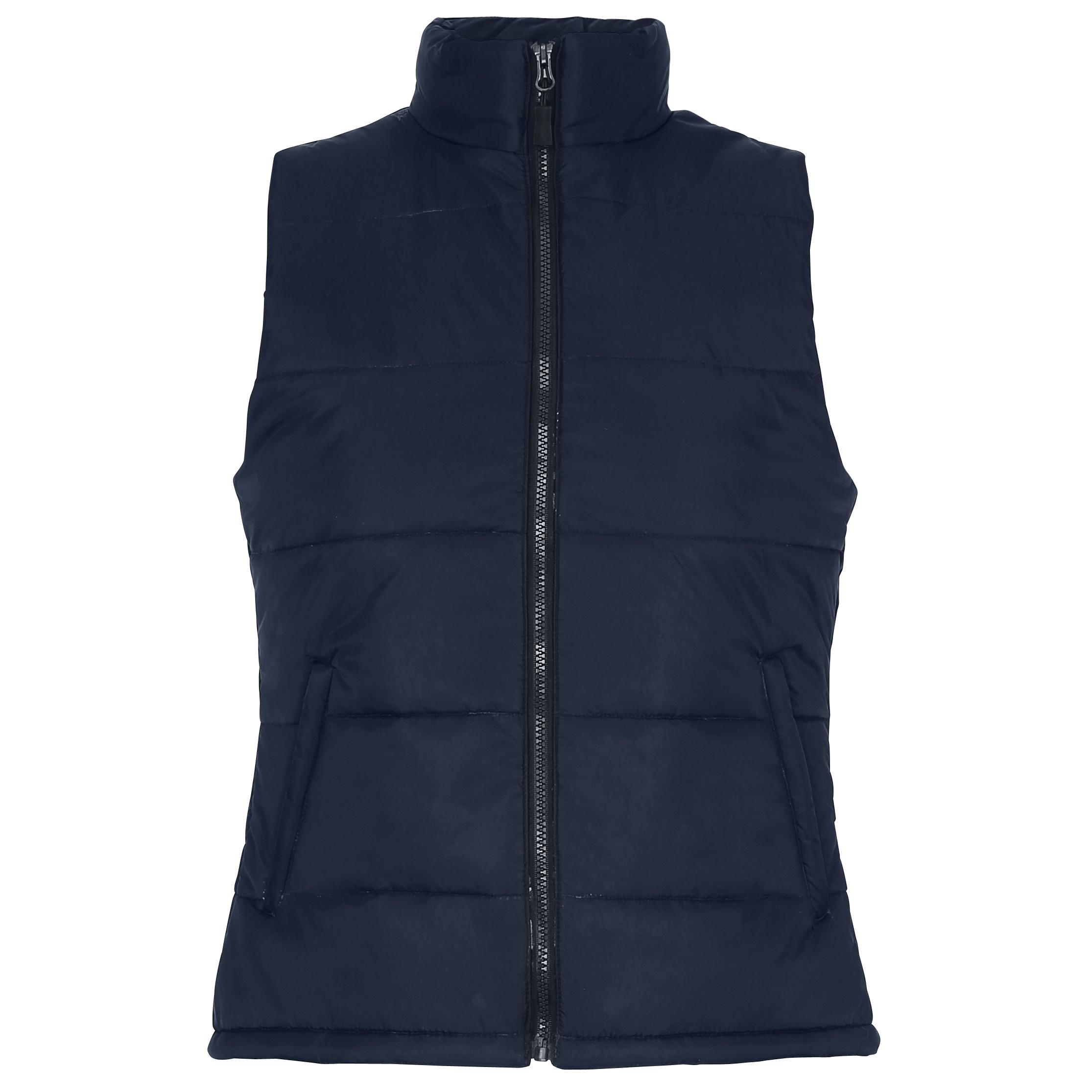 2786 Womens/Ladies Padded Bodywarmer/Gilet Jacket (XS) (Navy)