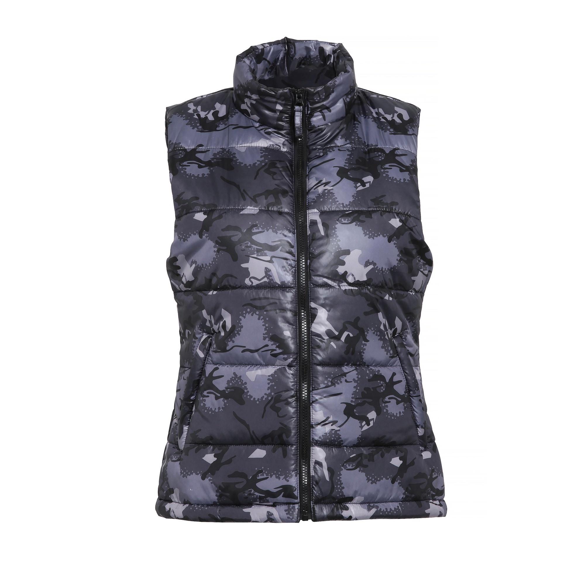 2786 Womens/Ladies Padded Bodywarmer/Gilet Jacket (XL) (Camo Grey)