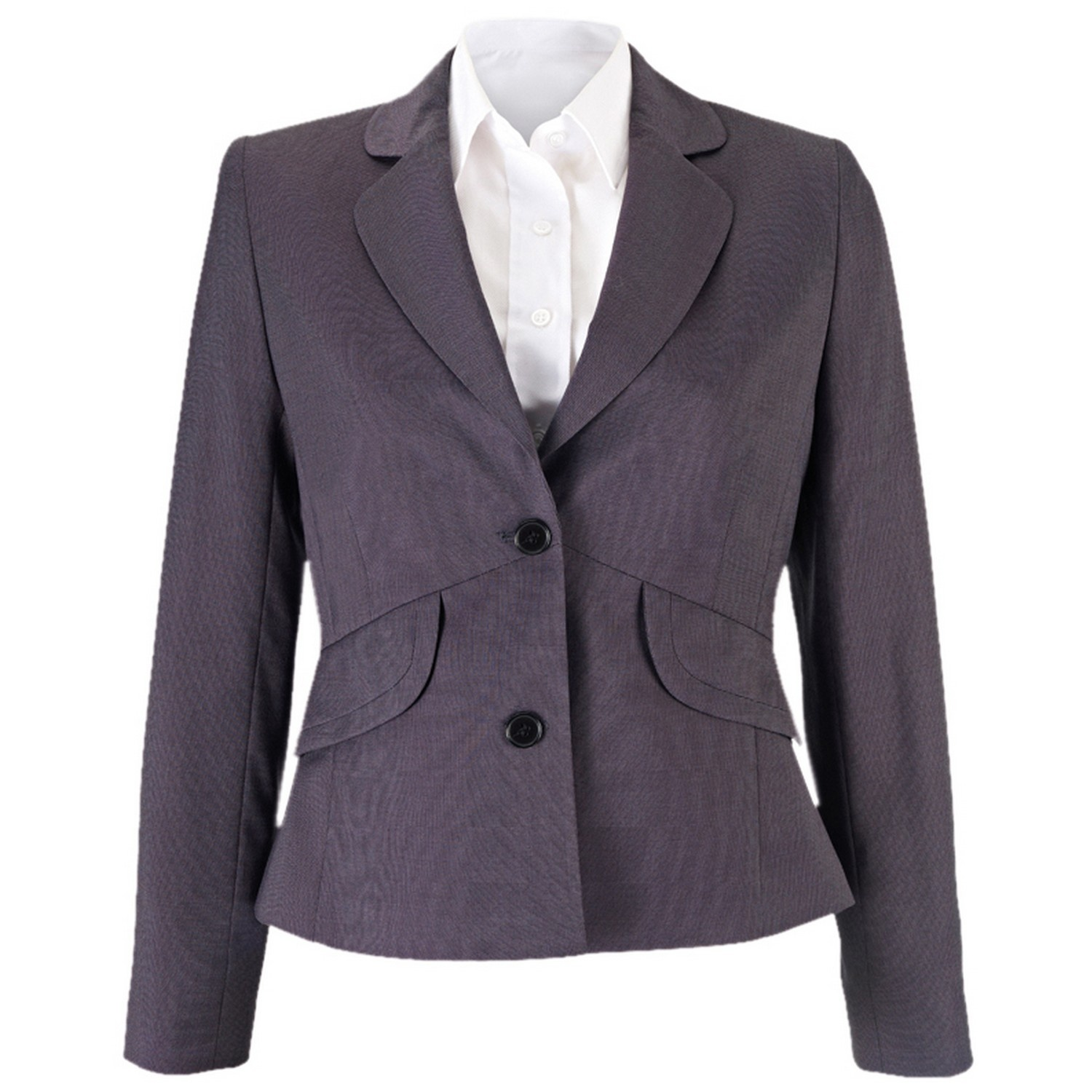 Alexandra Womens/Ladies Icona Formal Fitted Work Suit Jacket (14R) (Charcoal)