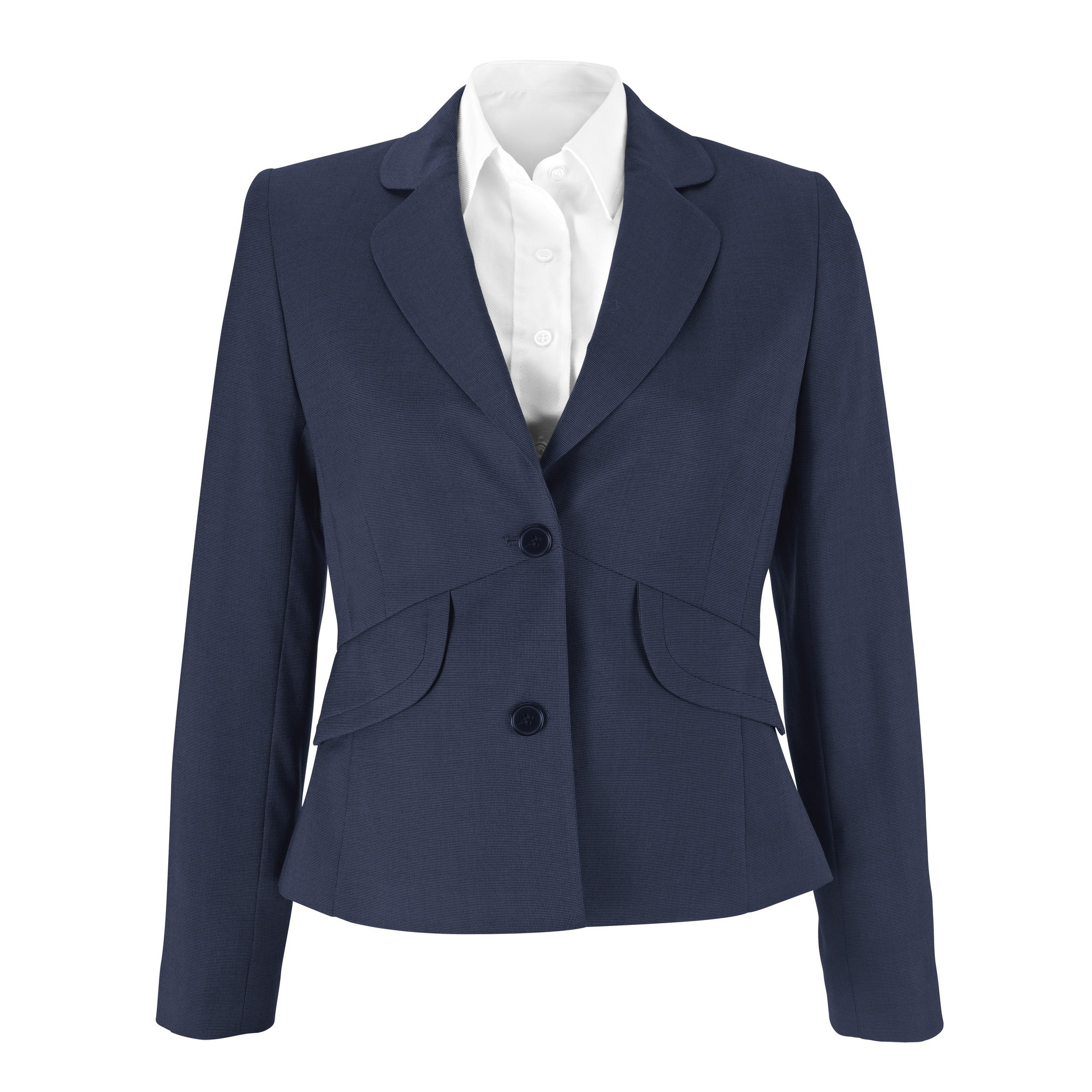 Alexandra Womens/Ladies Icona Formal Fitted Work Suit Jacket (12R) (Navy)