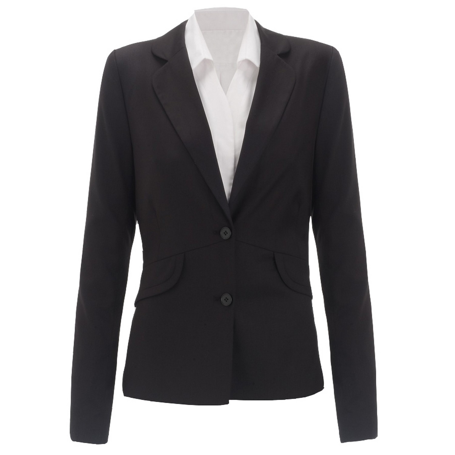 Alexandra Womens/Ladies Icona Formal Fitted Work Suit Jacket (20R) (Black)