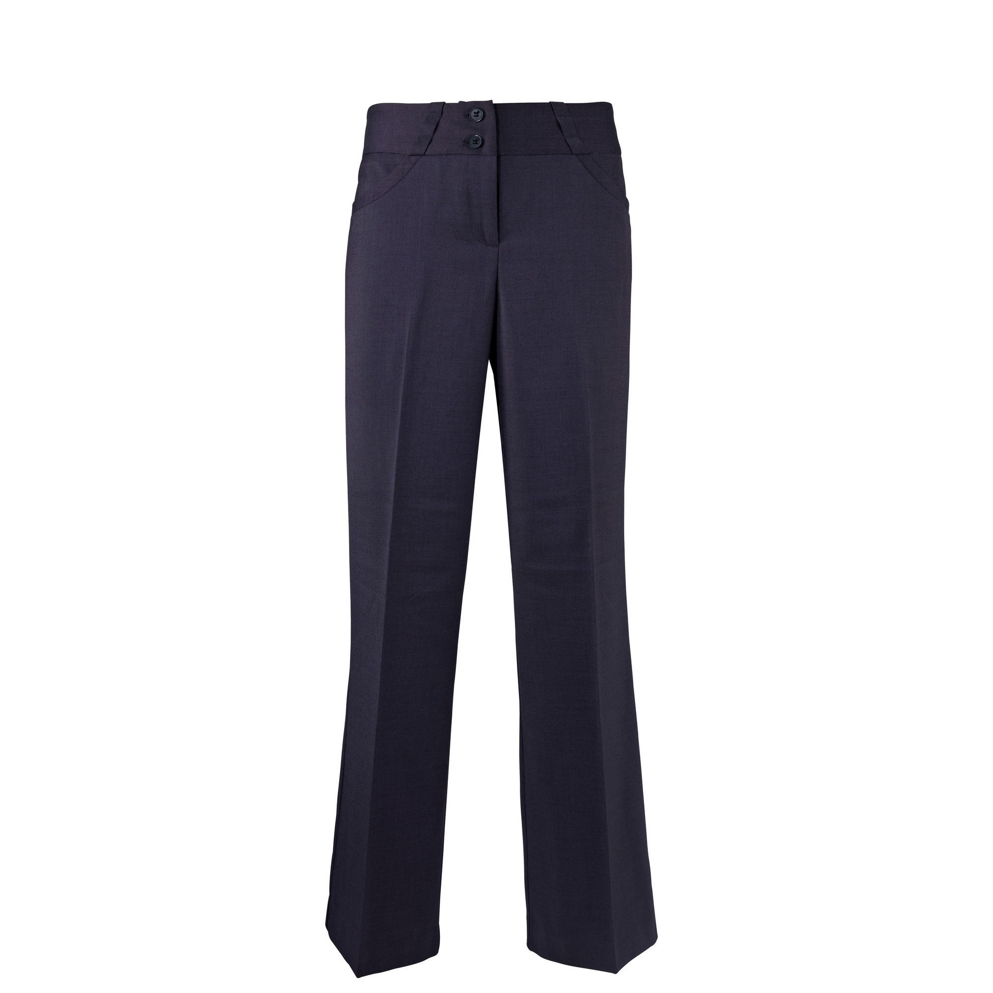 Alexandra Womens/Ladies Icona Wide Leg Formal Work Suit Trousers (14S) (Navy)