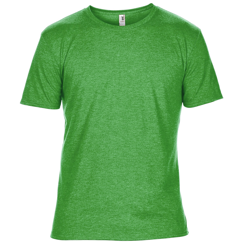 Anvil Mens Plain Short Sleeve Tri-Blend T-Shirt (XL) (Heather Green)