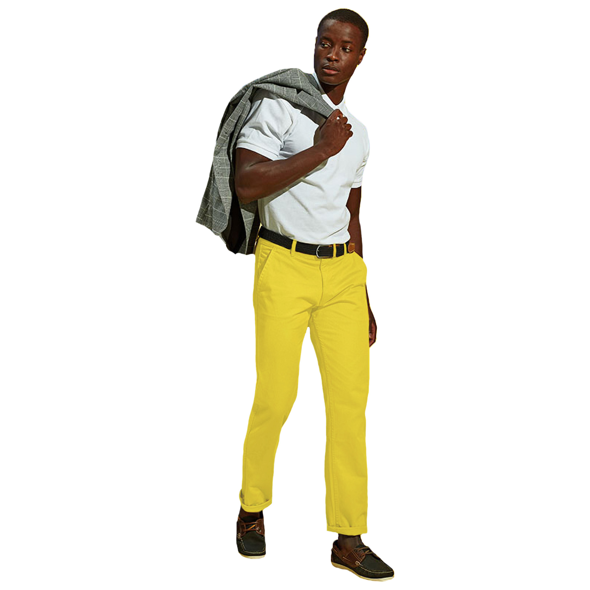 Asquith-amp-Fox-Pantalones-chinos-casuales-Modelo-Classic-para-hombre-caballero