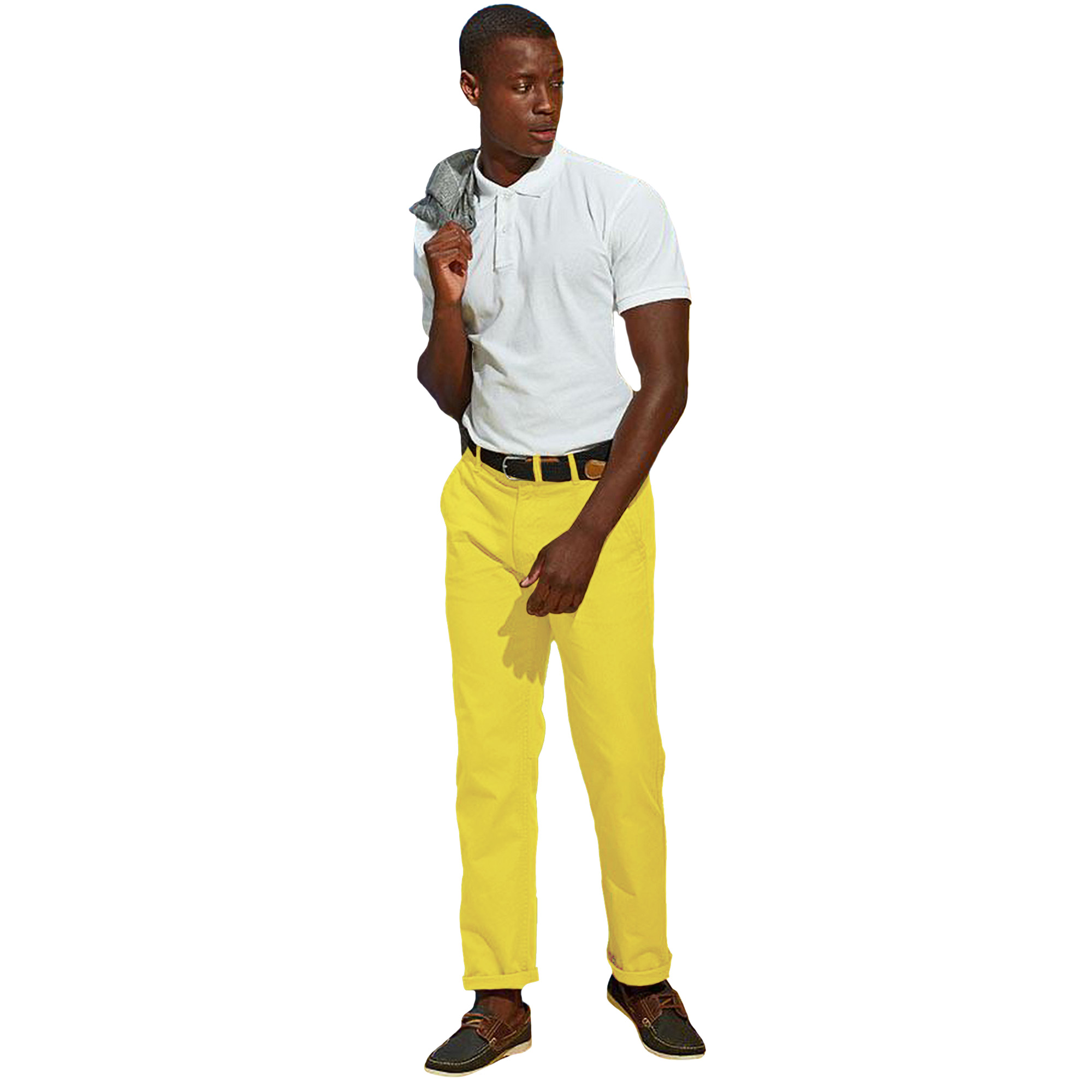 Asquith & Fox Mens Classic Casual Chinos/Trousers (3XLU) (Navy)