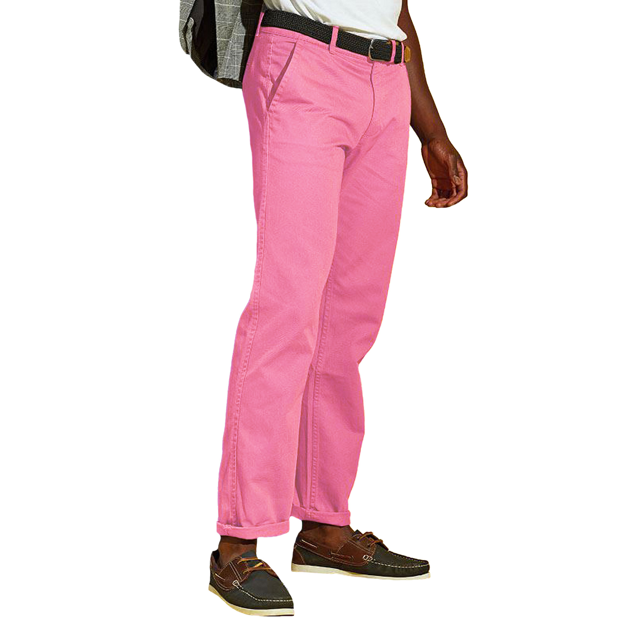 Asquith & Fox Mens Classic Casual Chinos/Trousers (4XLU) (White)