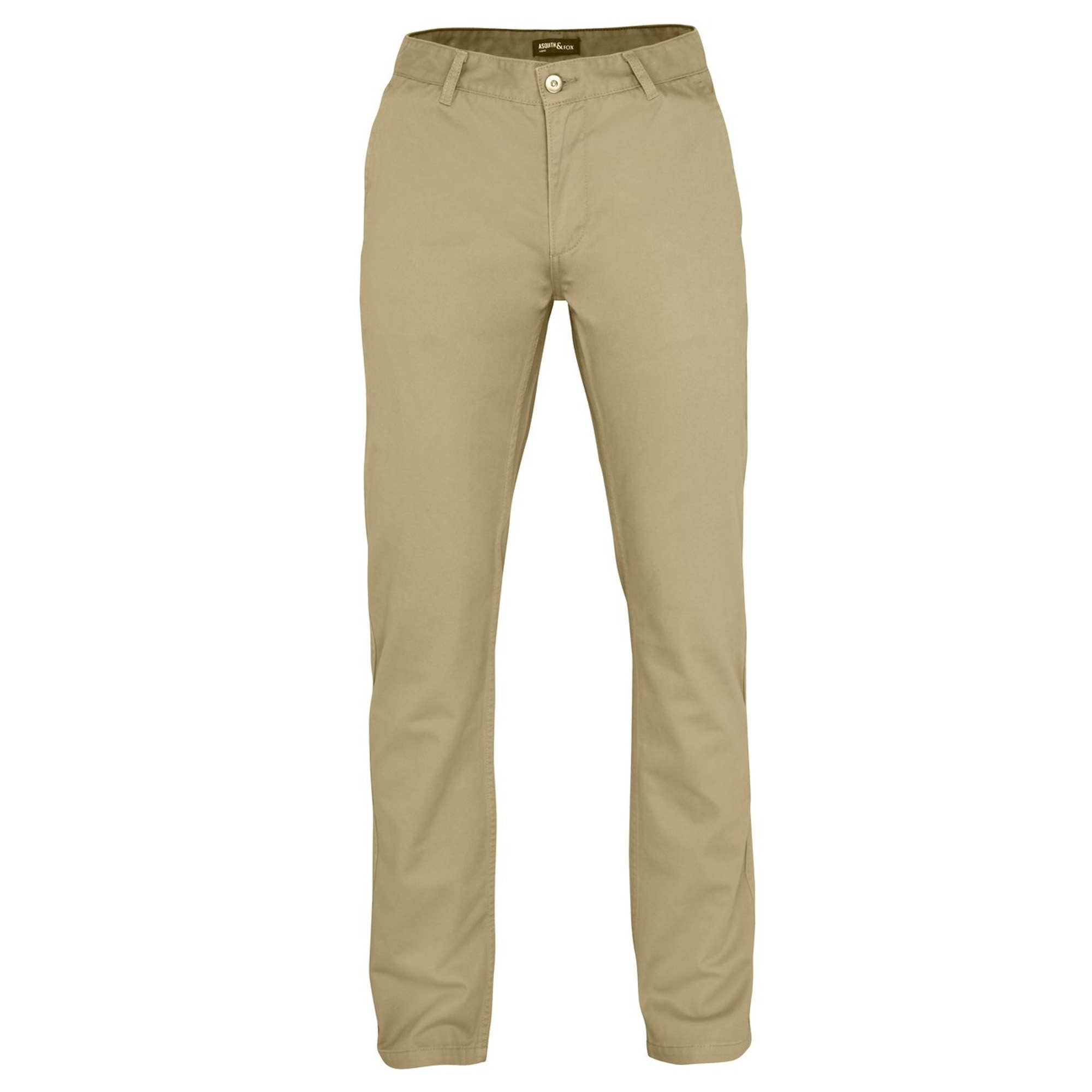 Asquith & Fox Mens Classic Casual Chinos/Trousers (4XLU) (Natural)