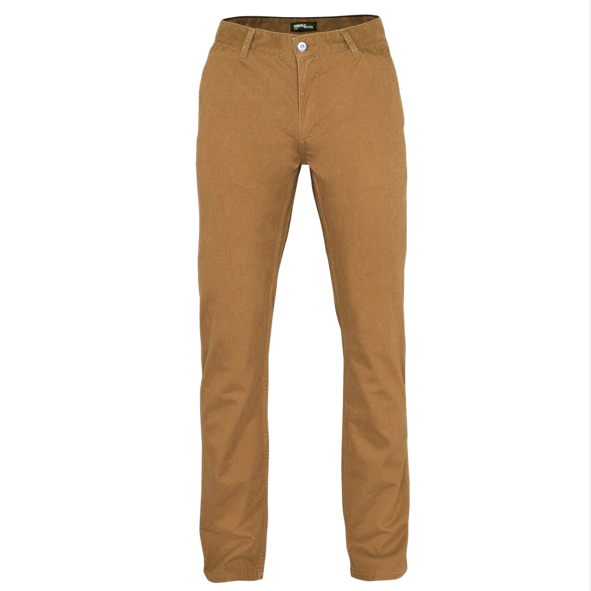 Asquith & Fox Mens Classic Casual Chinos/Trousers (XLT) (Camel)