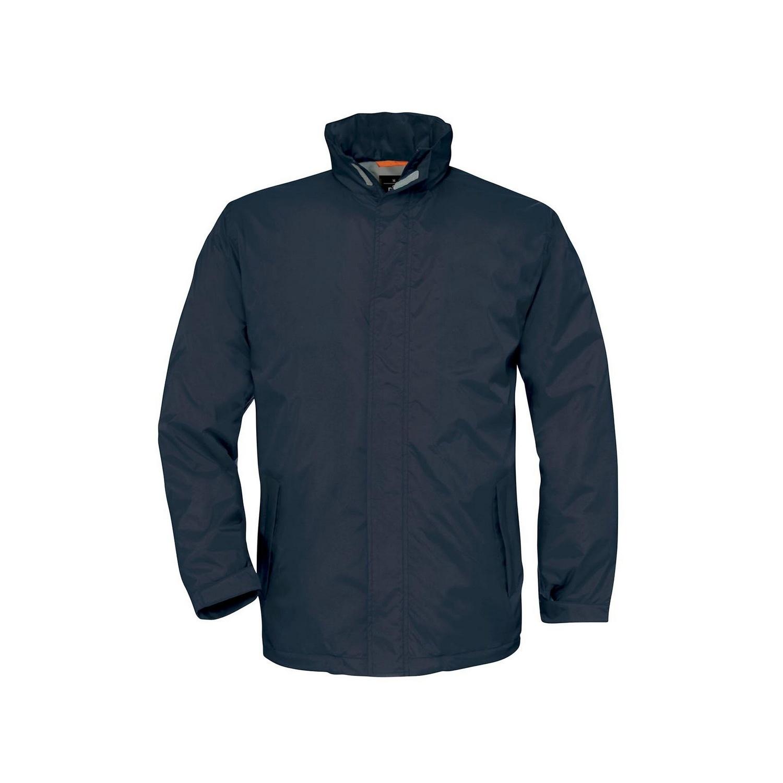B&C Mens Ocean Shore Waterproof Hooded Fleece Lined Jacket (2XL) (Navy)